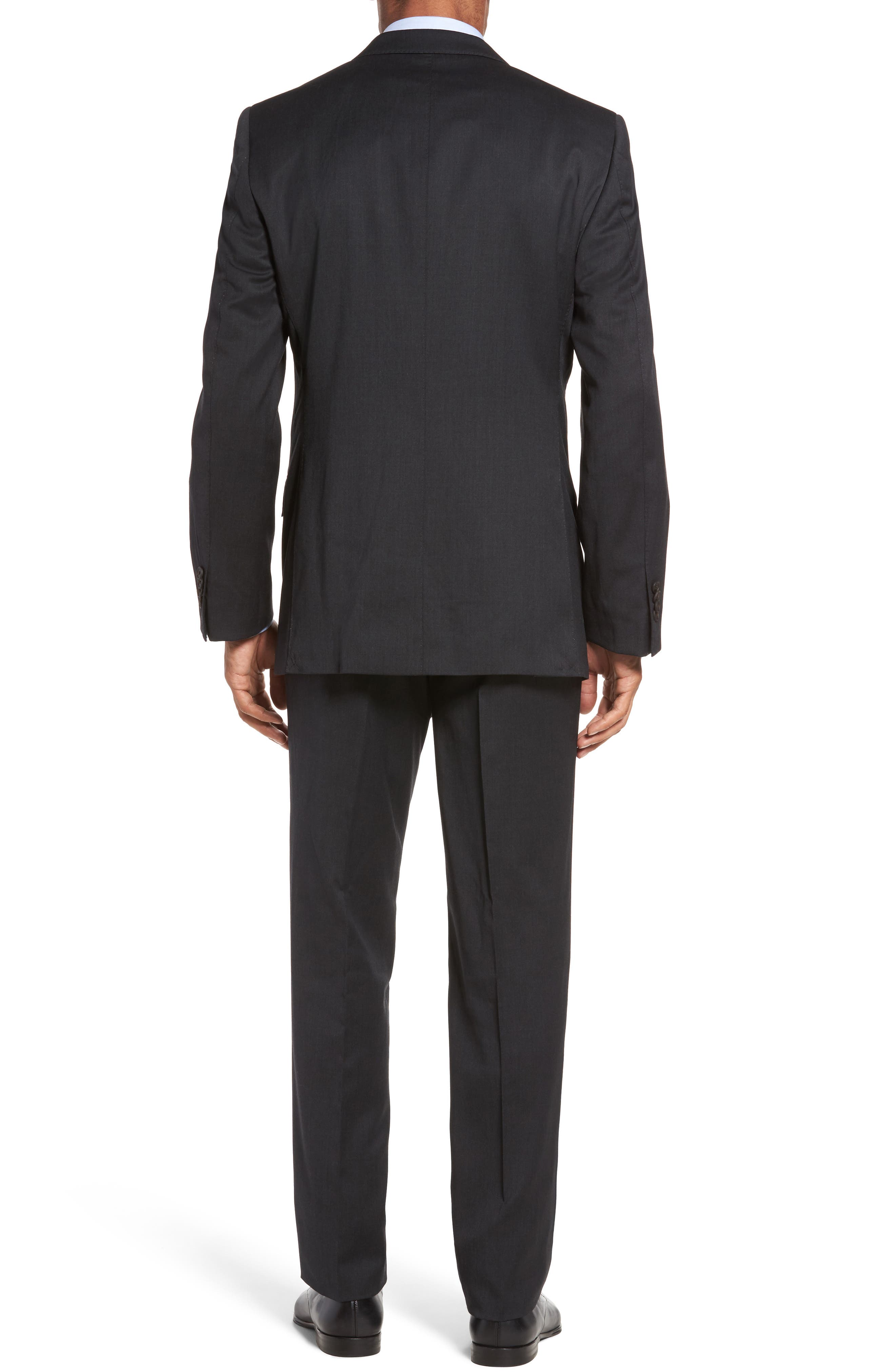 Keidis Aim Classic Fit Stretch Wool Suit,                             Alternate thumbnail 2, color,                             Charcoal