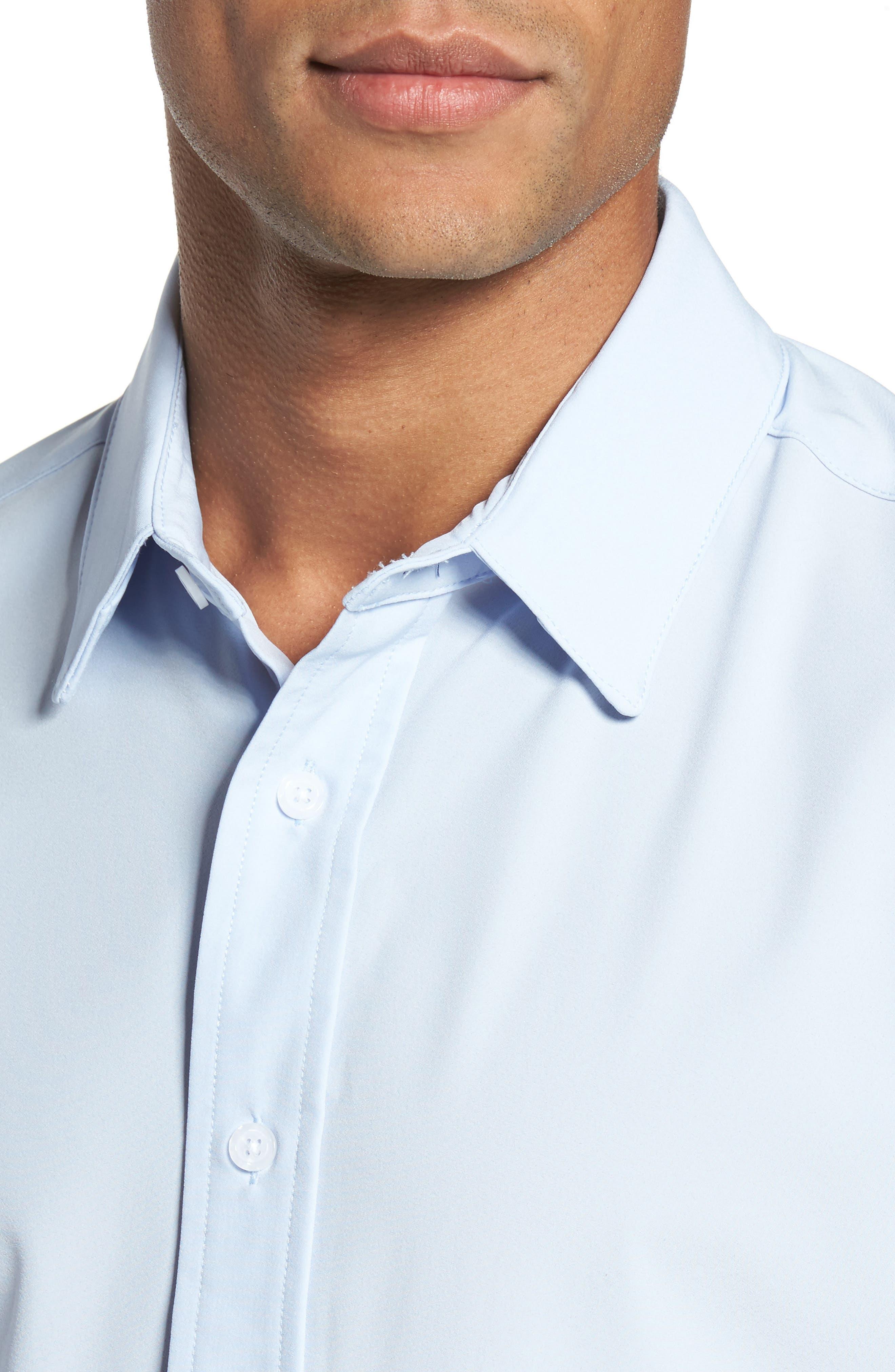 Blue Label Nelson Slim Fit Sport Shirt,                             Alternate thumbnail 2, color,                             Blue
