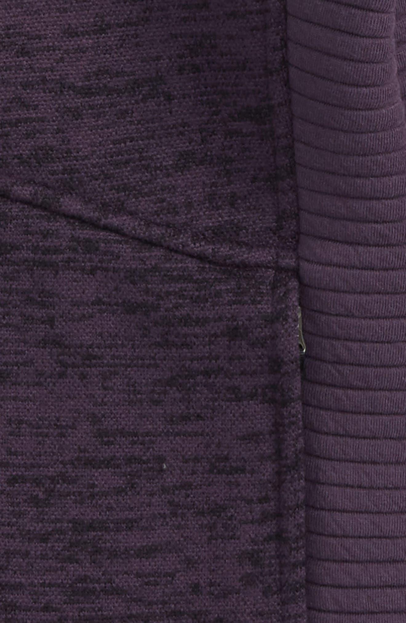 Indi 2 Hooded Knit Parka,                             Alternate thumbnail 2, color,                             Dark Eggplant Purple