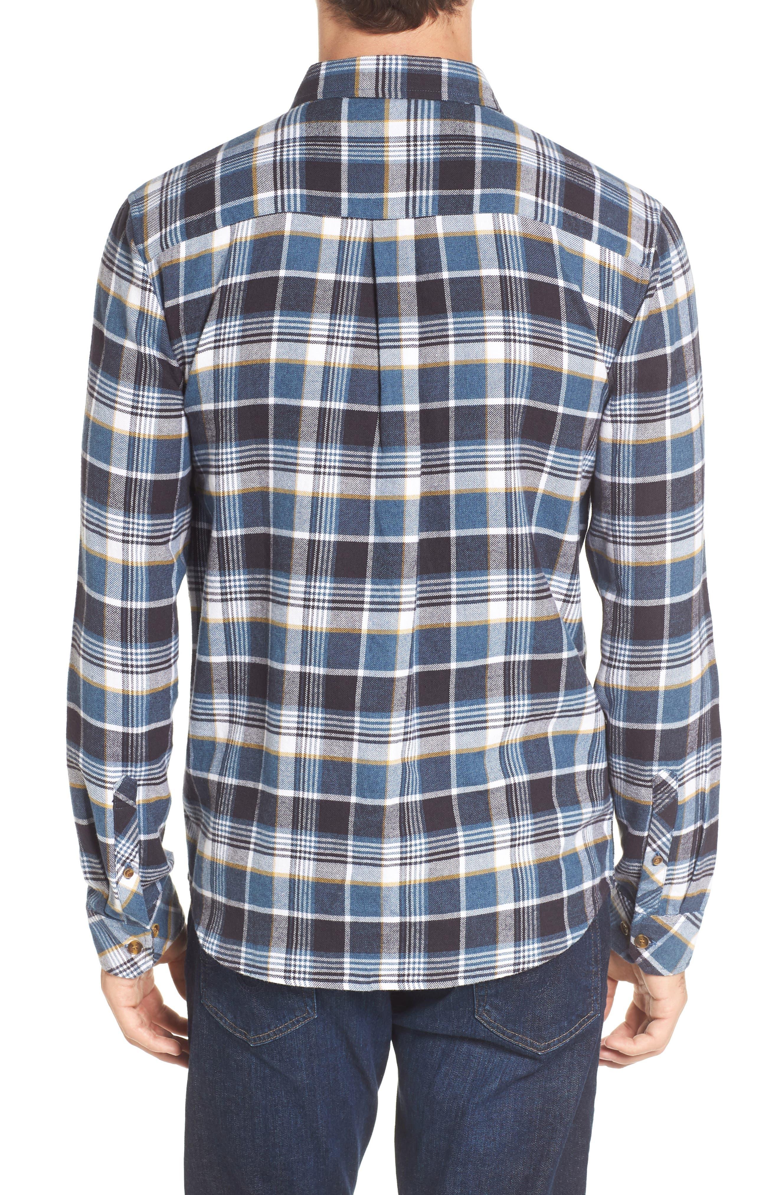 Redmond Regular Fit Plaid Flannel Shirt,                             Alternate thumbnail 2, color,                             Ocean