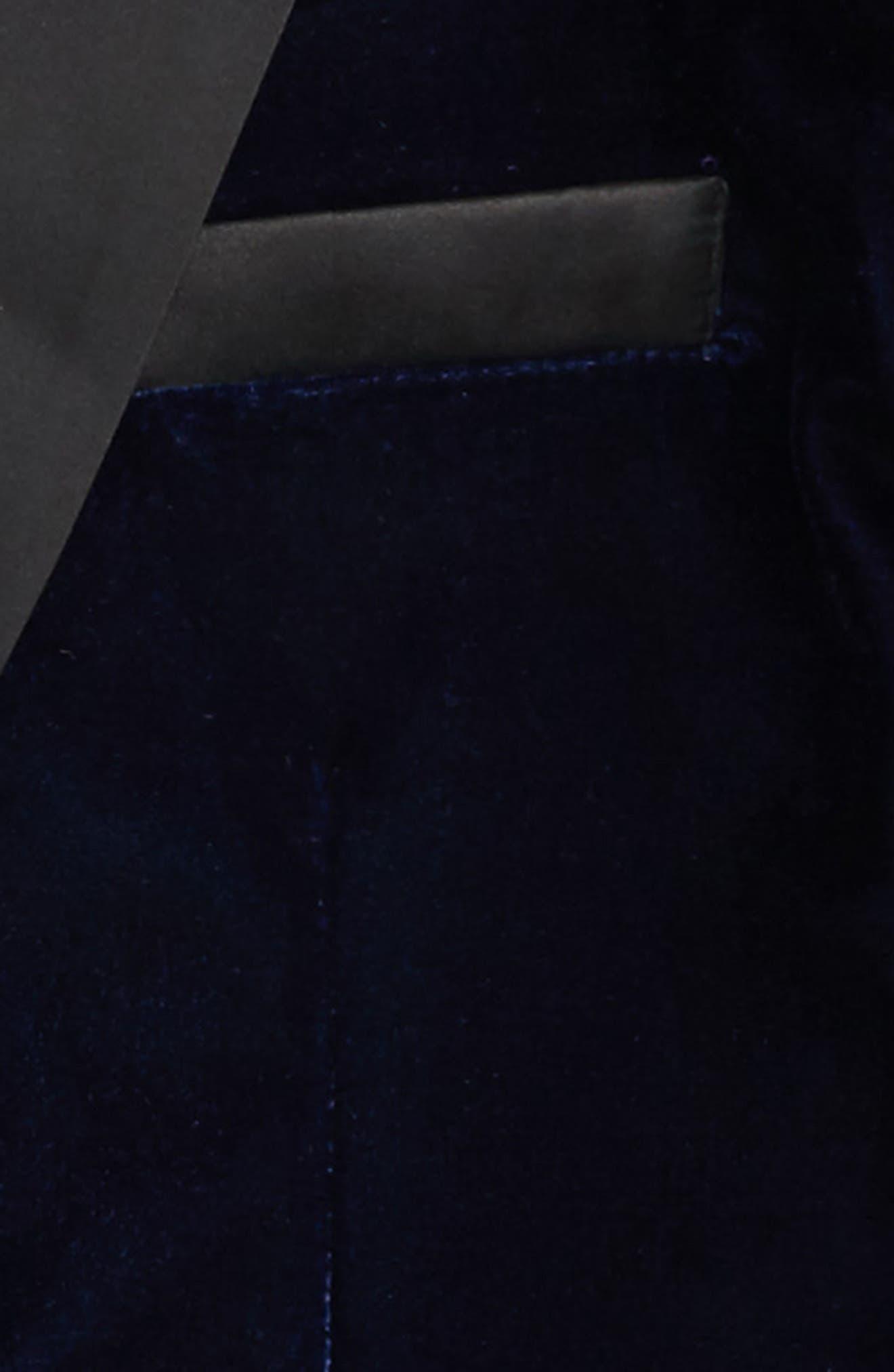 Alternate Image 2  - Marciano Velvet Tuxedo Blazer (Big Girls)