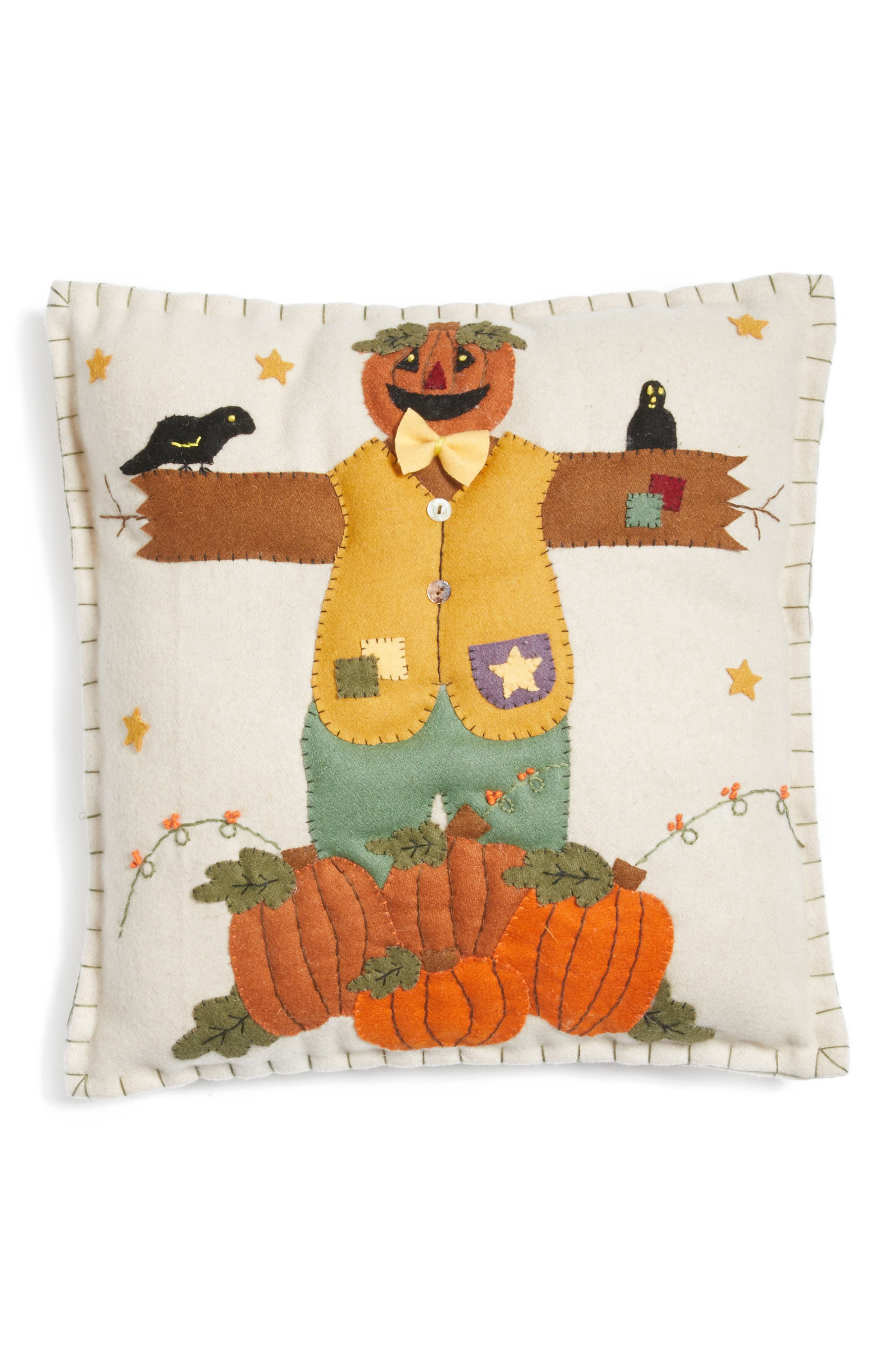 New World Arts Scarecrow Accent Pillow
