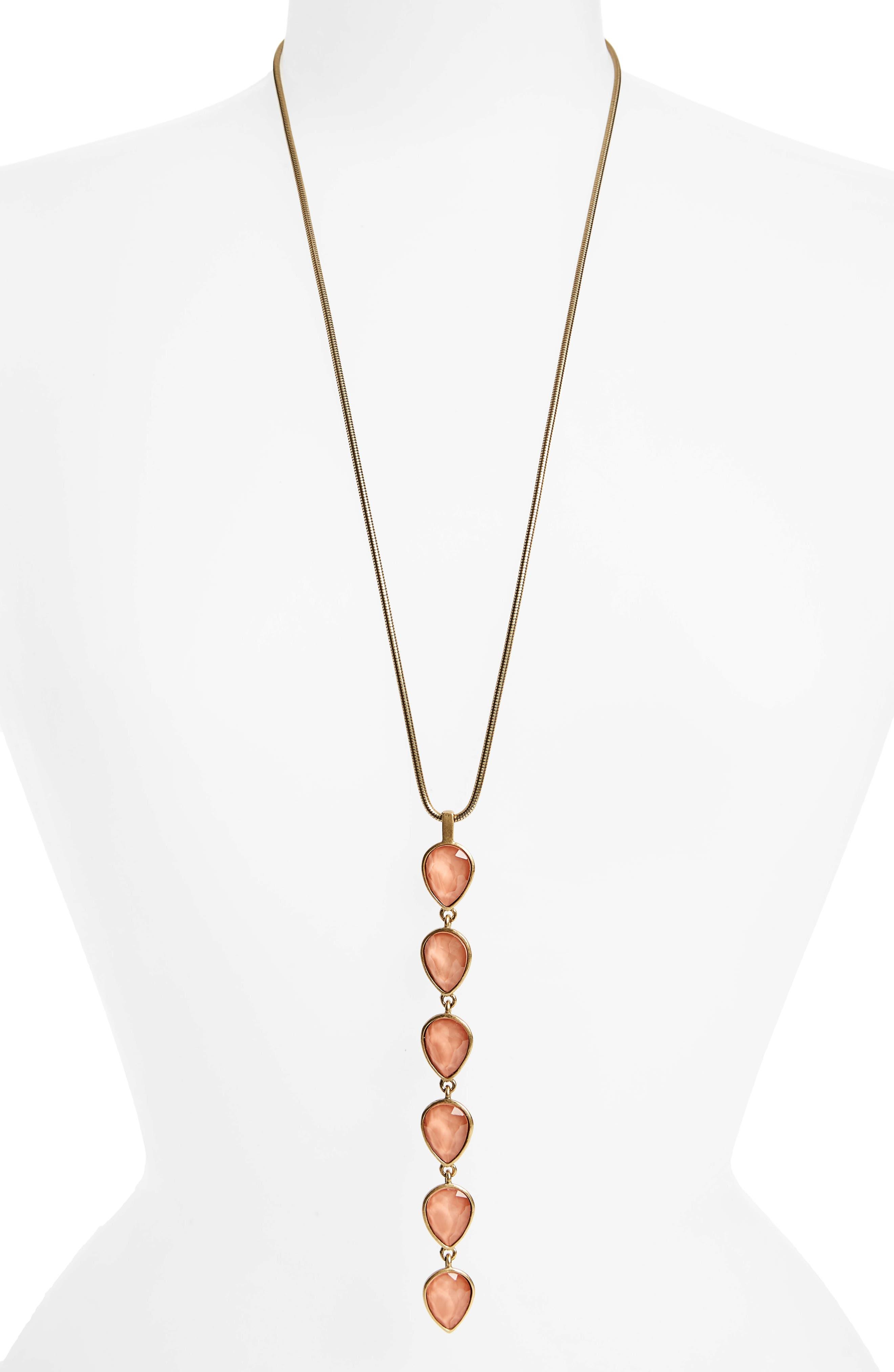 Sydney Pendant Necklace,                         Main,                         color, Apricot