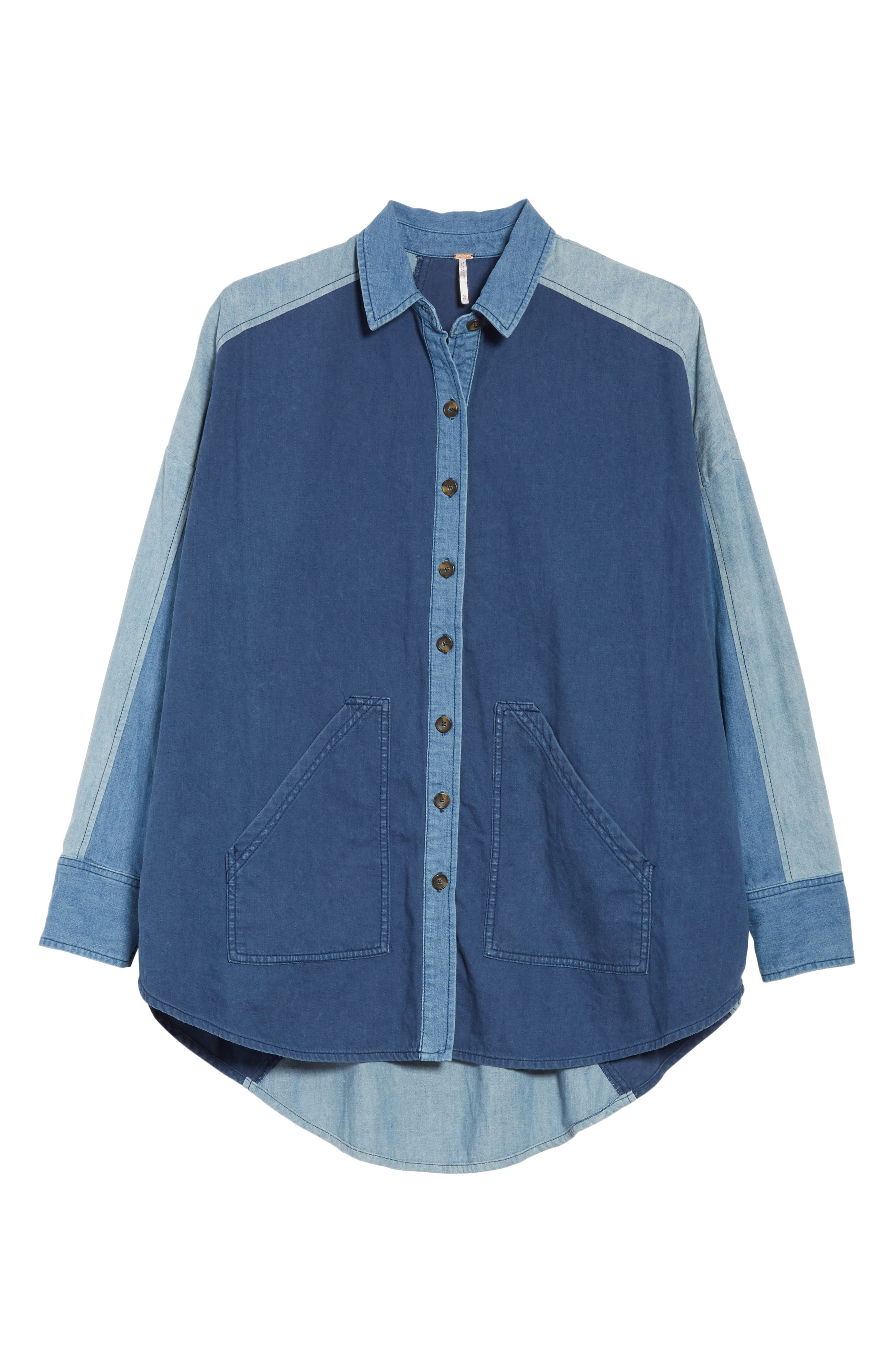 Alternate Image 6  - Free People Superstar Chambray Shirt
