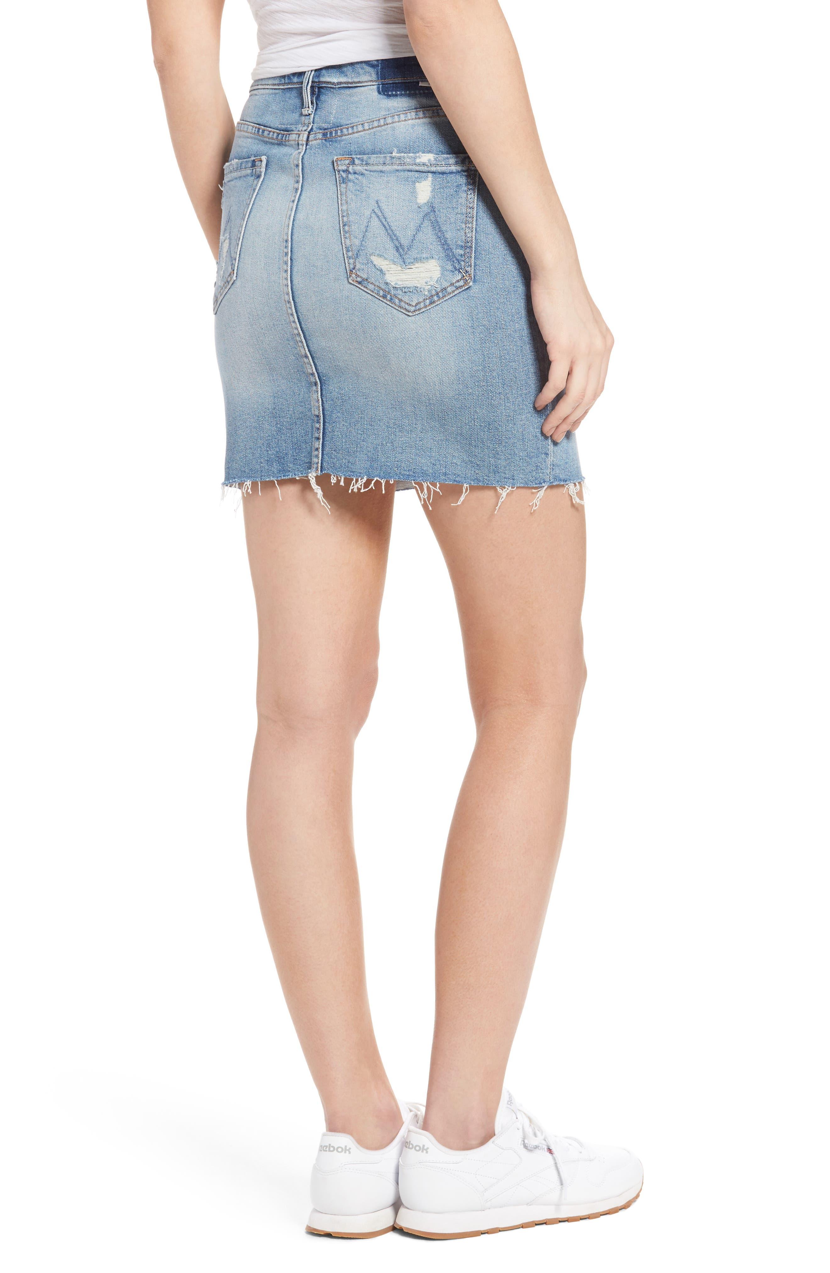 Alternate Image 2  - MOTHER The Sacred Slit Denim Miniskirt