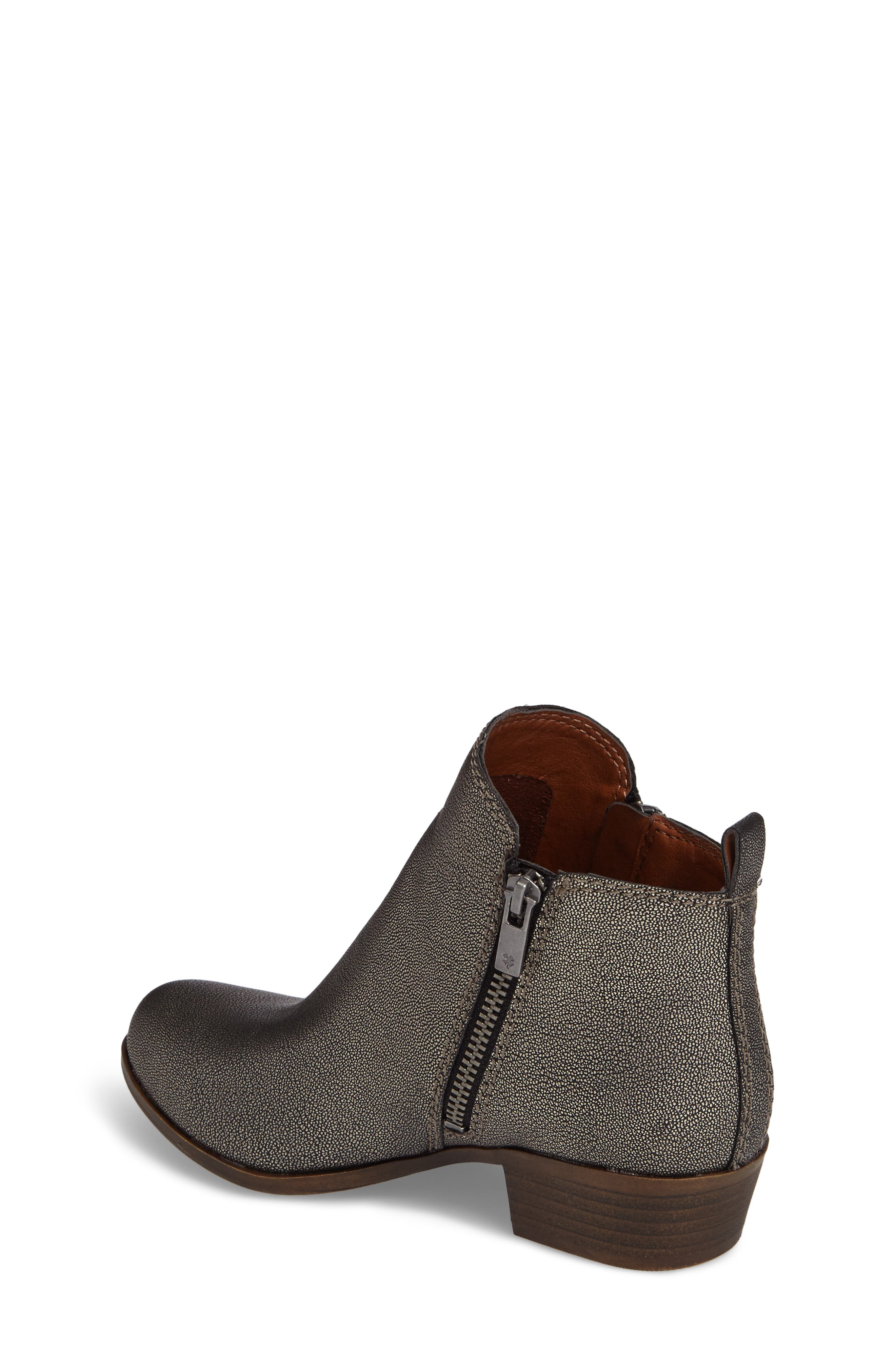 Basel Double-Zip Bootie,                             Alternate thumbnail 2, color,                             Pewter