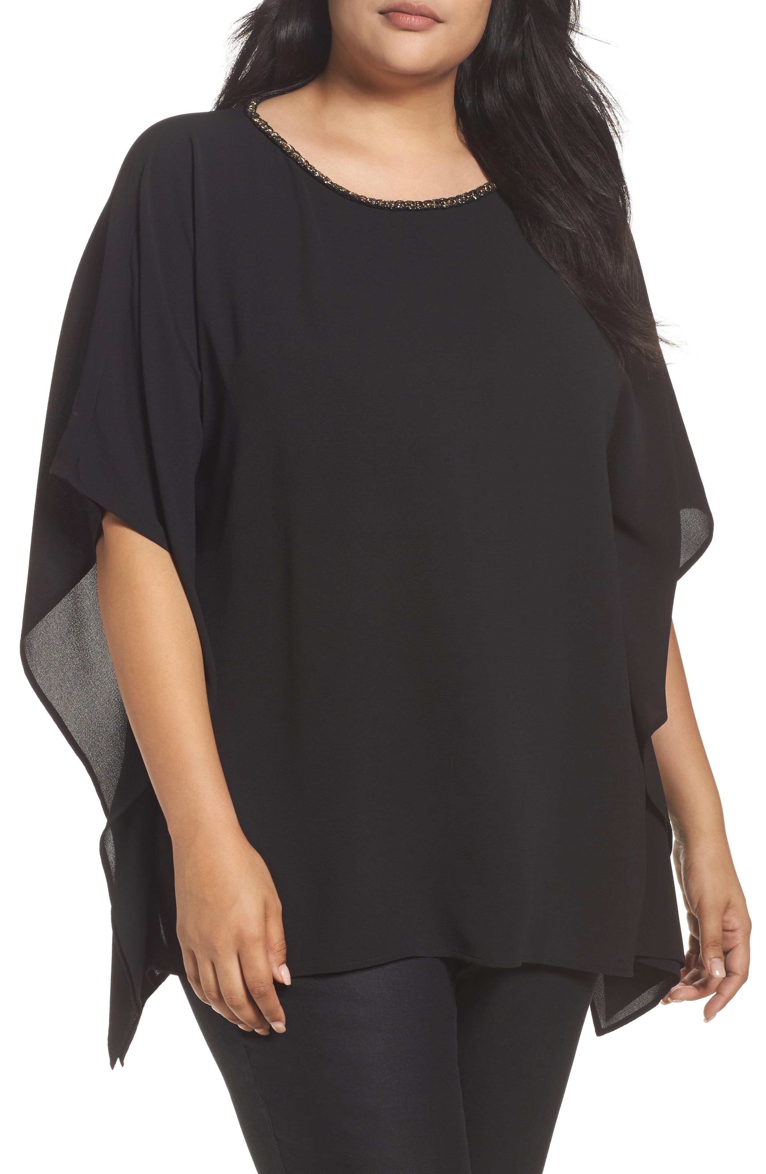 Chain Neck Top,                         Main,                         color, Black
