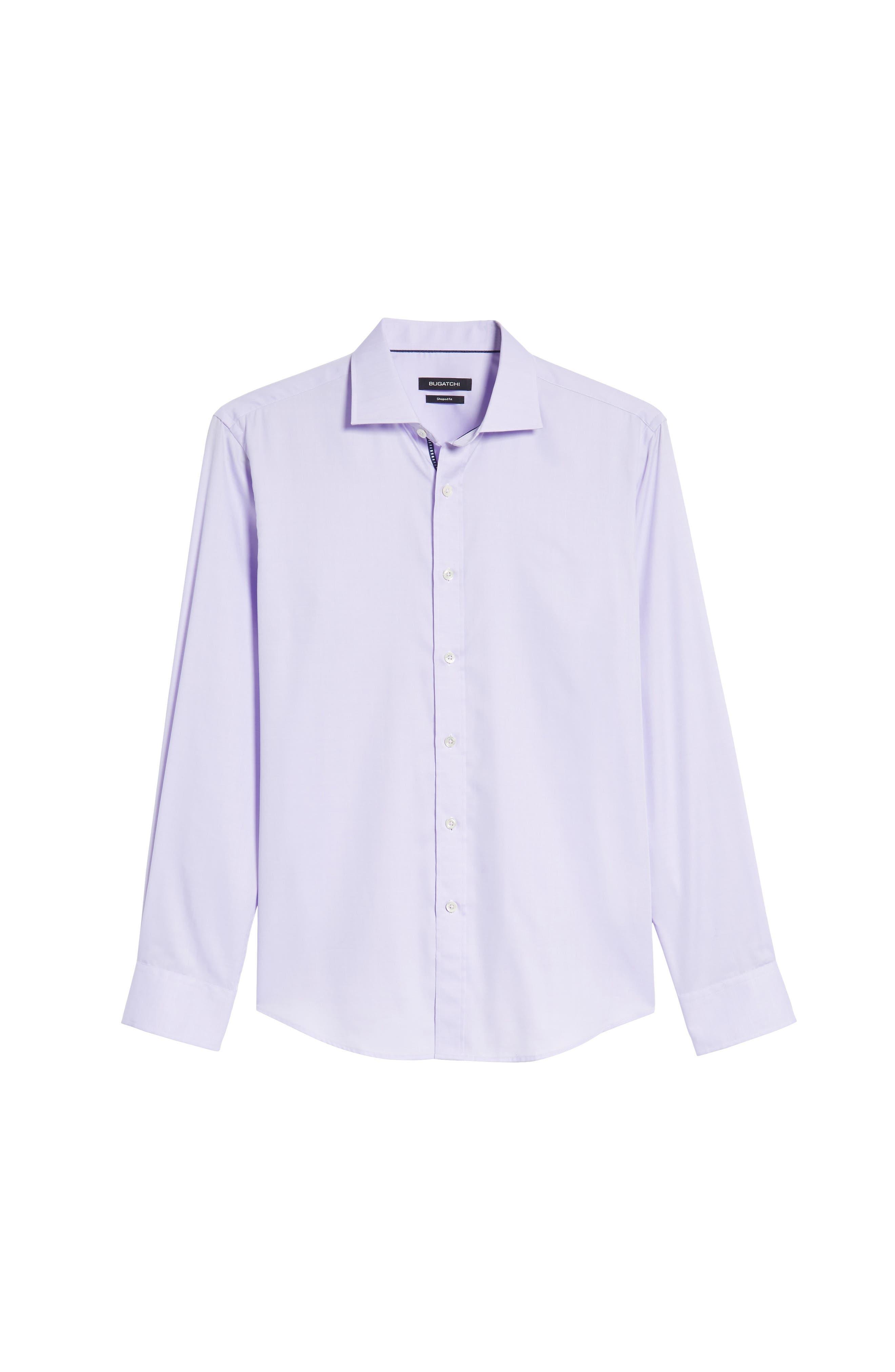 Trim Fit Solid Pastel Sport Shirt,                             Alternate thumbnail 6, color,                             Lavender