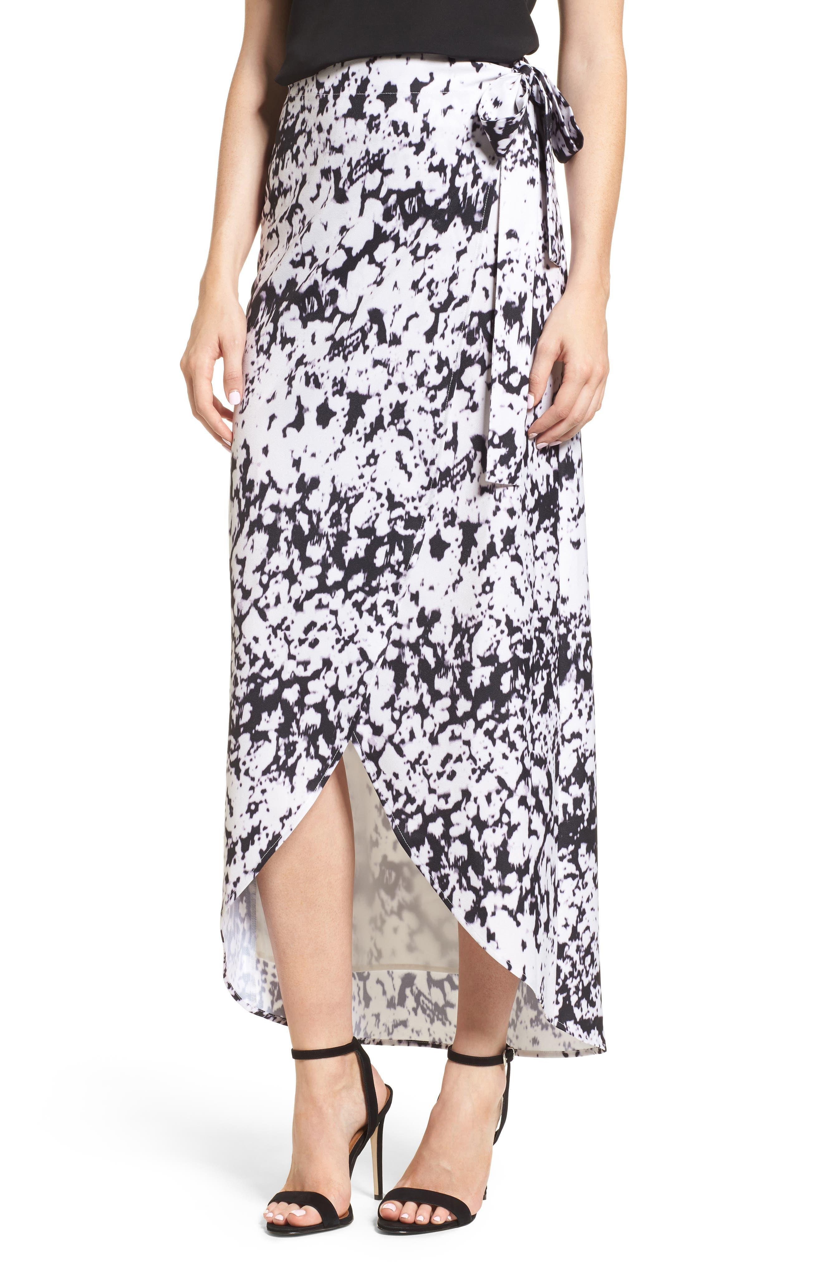 Midi Wrap Skirt,                         Main,                         color, Storm