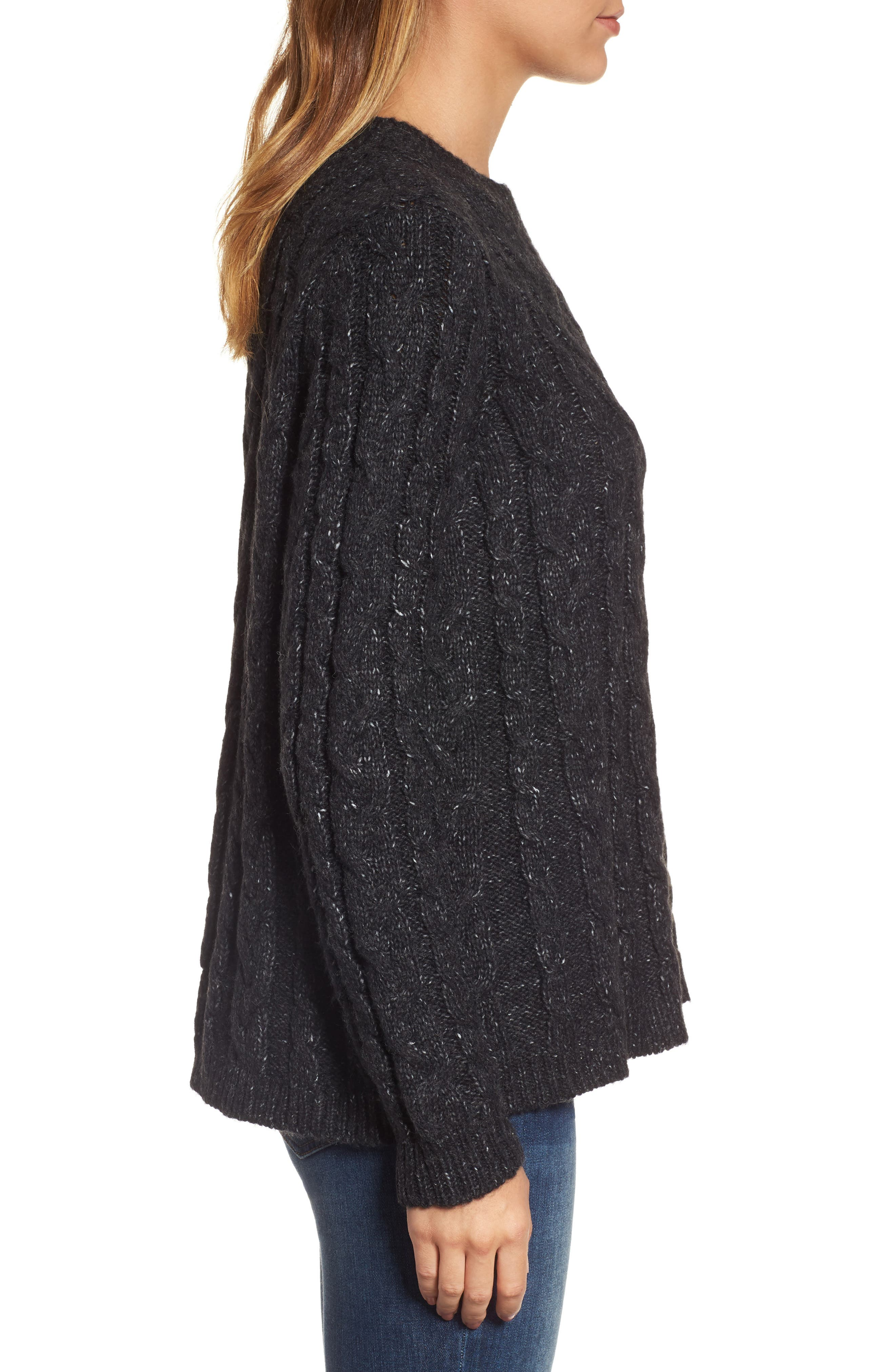 Alternate Image 3  - Press Trapeze Fit Cable Knit Sweater