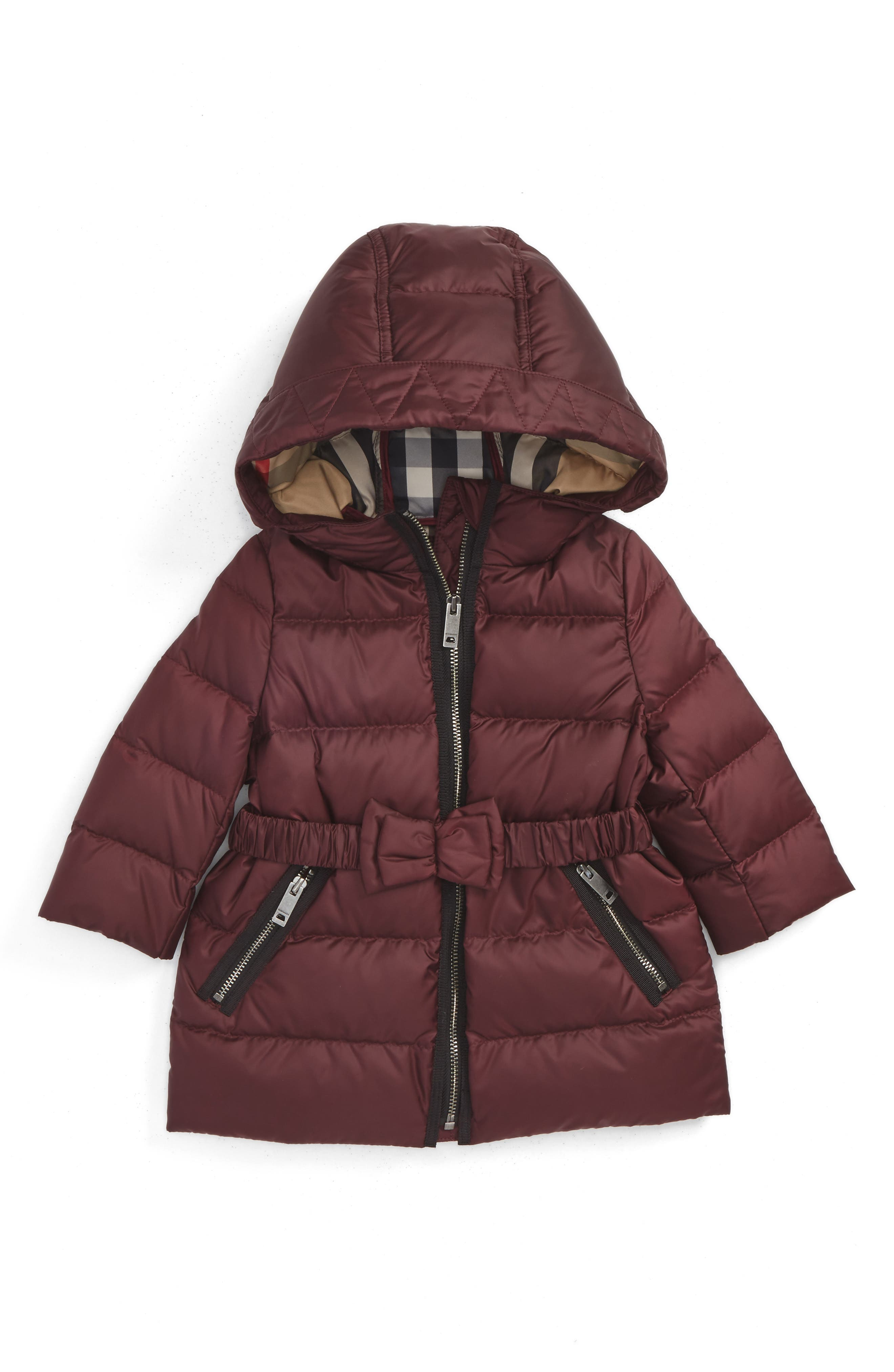 Alternate Image 1 Selected - Burberry Consillia Down Parka (Baby Girls)