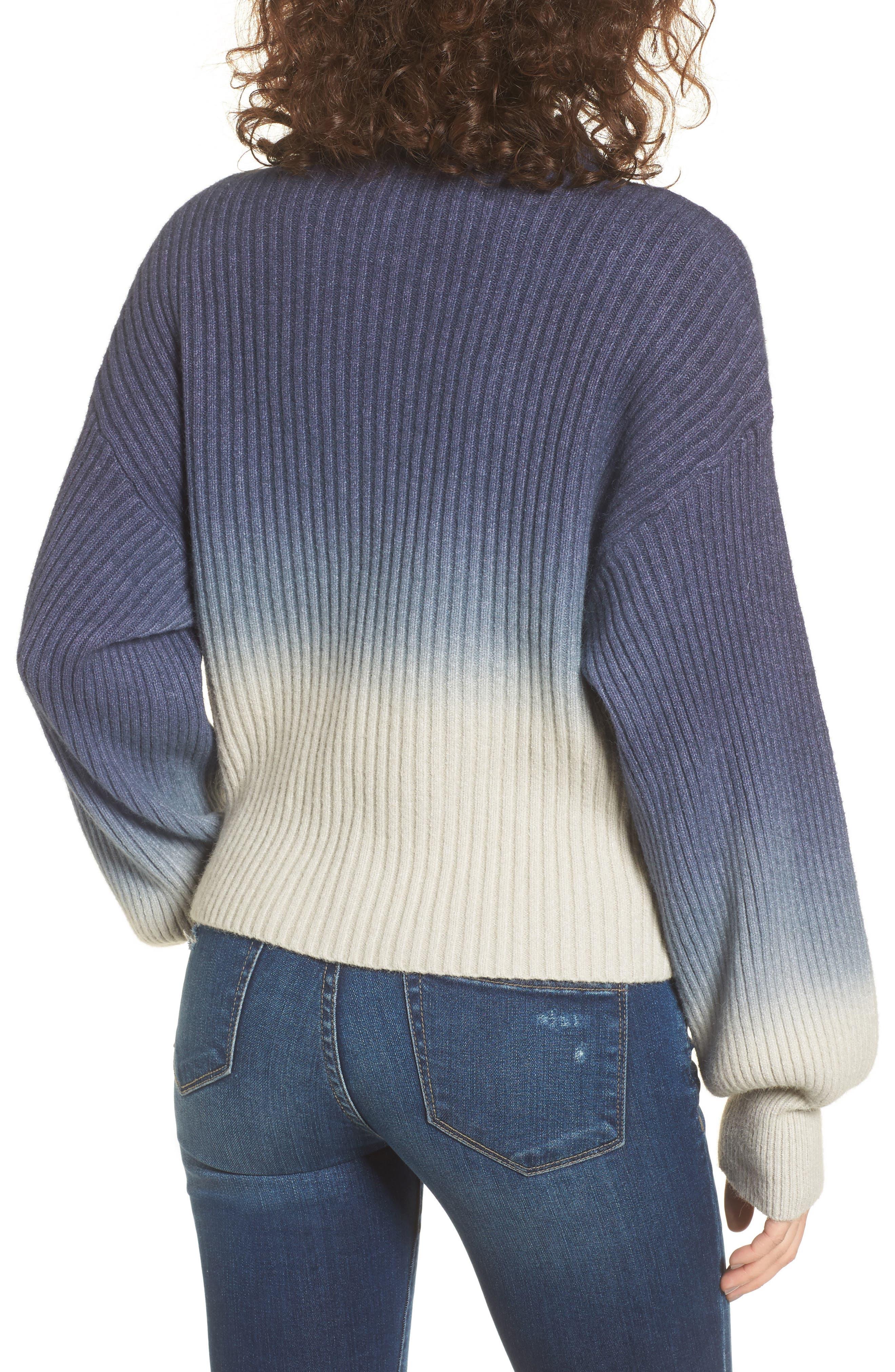 Ombré Sweater,                             Alternate thumbnail 2, color,                             Blue/ White