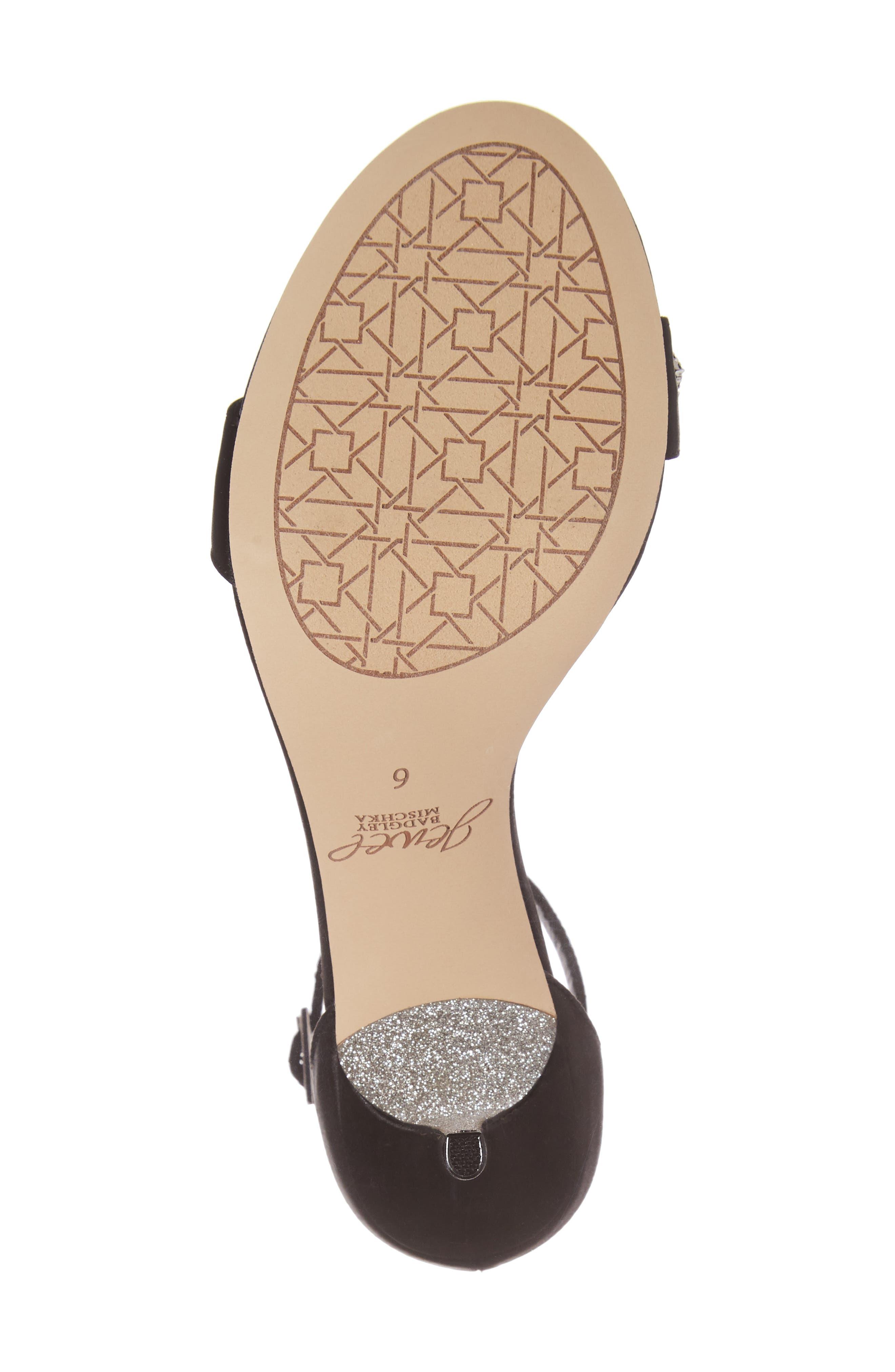 Alternate Image 7  - Jewel Badgley Mischka Alana Ankle Strap Sandal (Women)