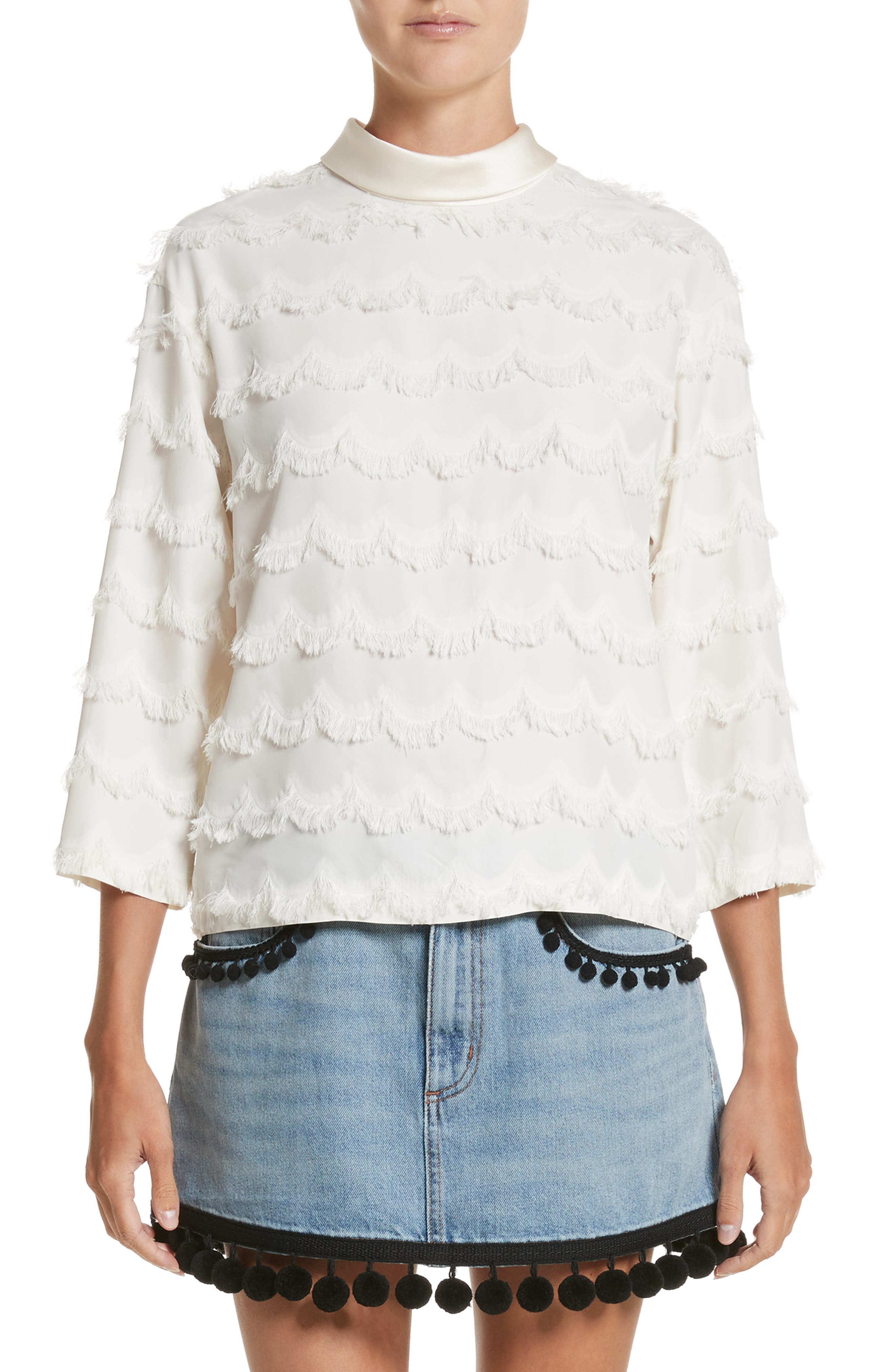 Alternate Image 1 Selected - MARC JACOBS Scalloped Fringe Top