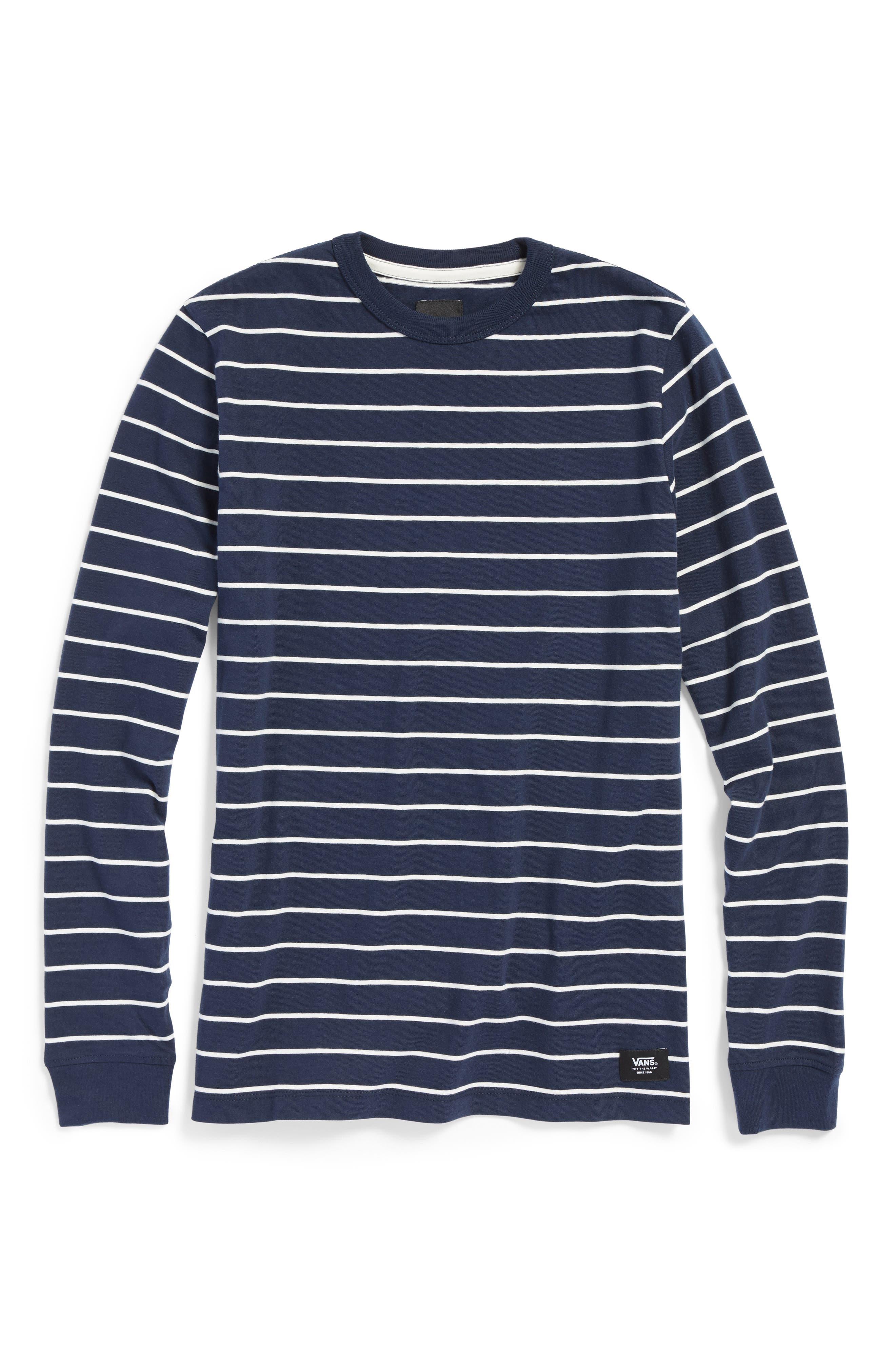 Vans Milton Stripe Long Sleeve T-Shirt (Big Boys)