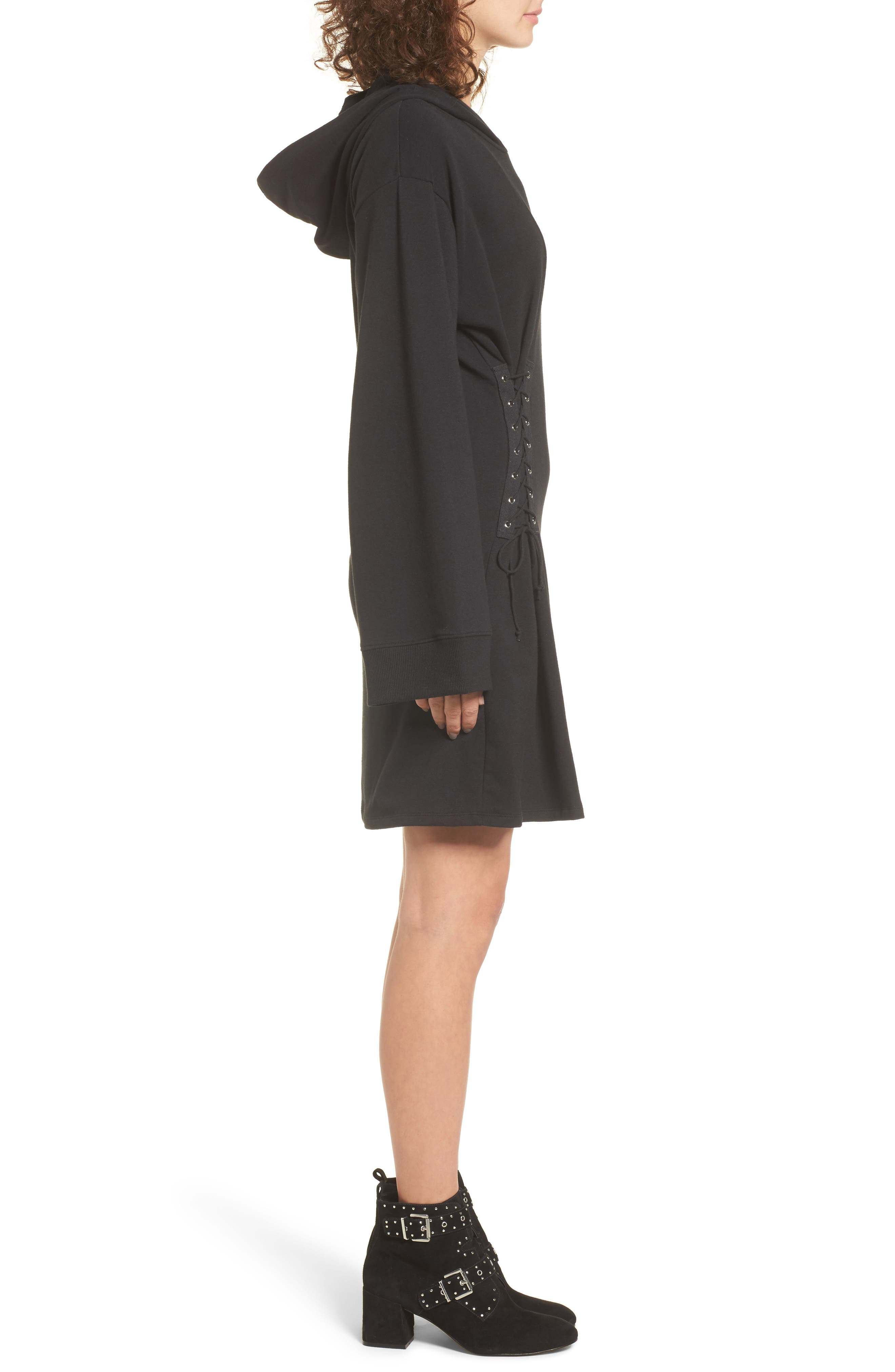 Alternate Image 3  - BP. Corset Hoodie Sweatshirt Dress