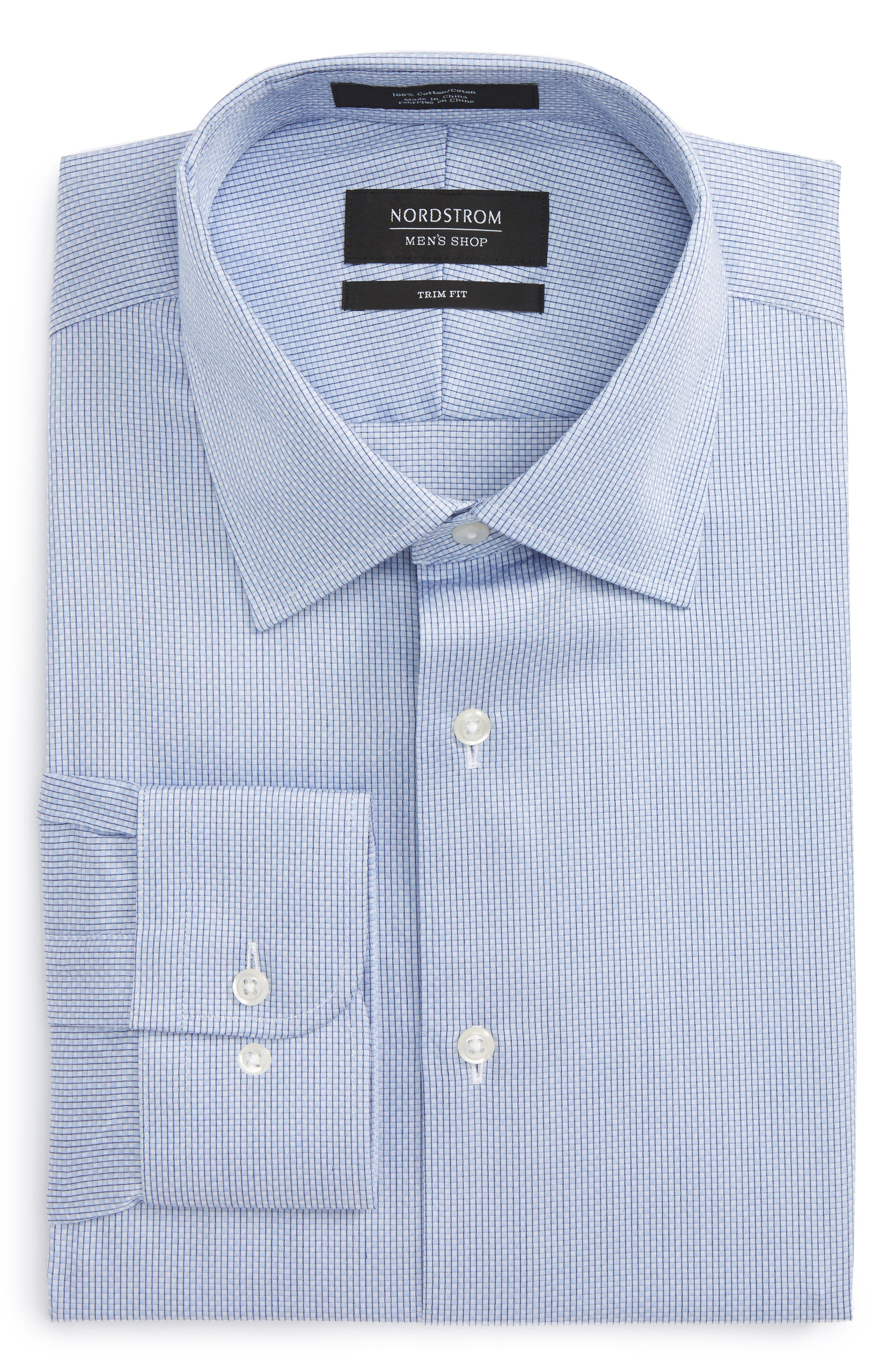 Nordstrom Men's Shop Trim Fit Stripe Dress Shirt