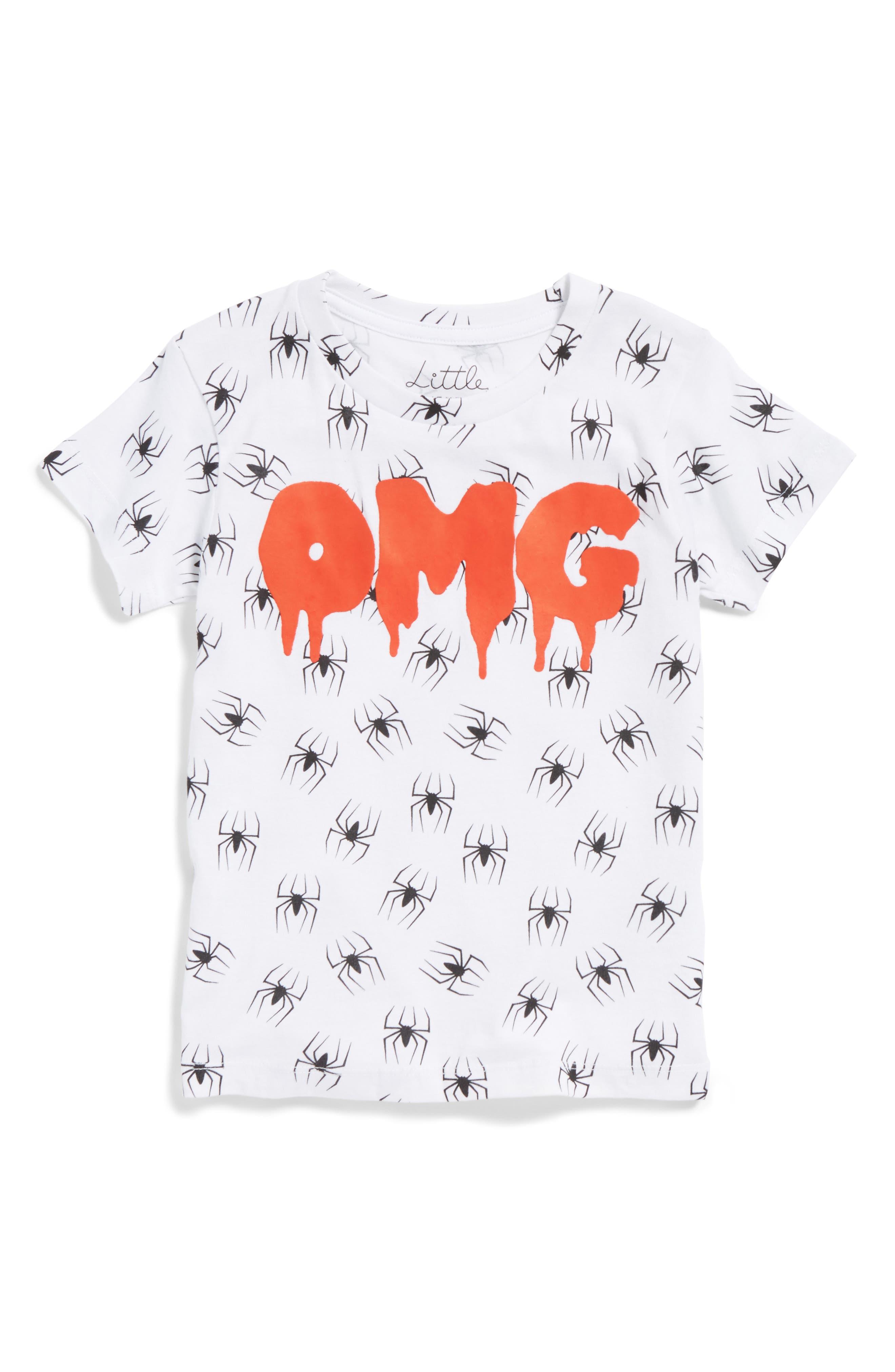 Main Image - Little ELEVENPARIS OMG Spider Graphic T-Shirt (Toddler Boys, Little Boys & Big Boys)