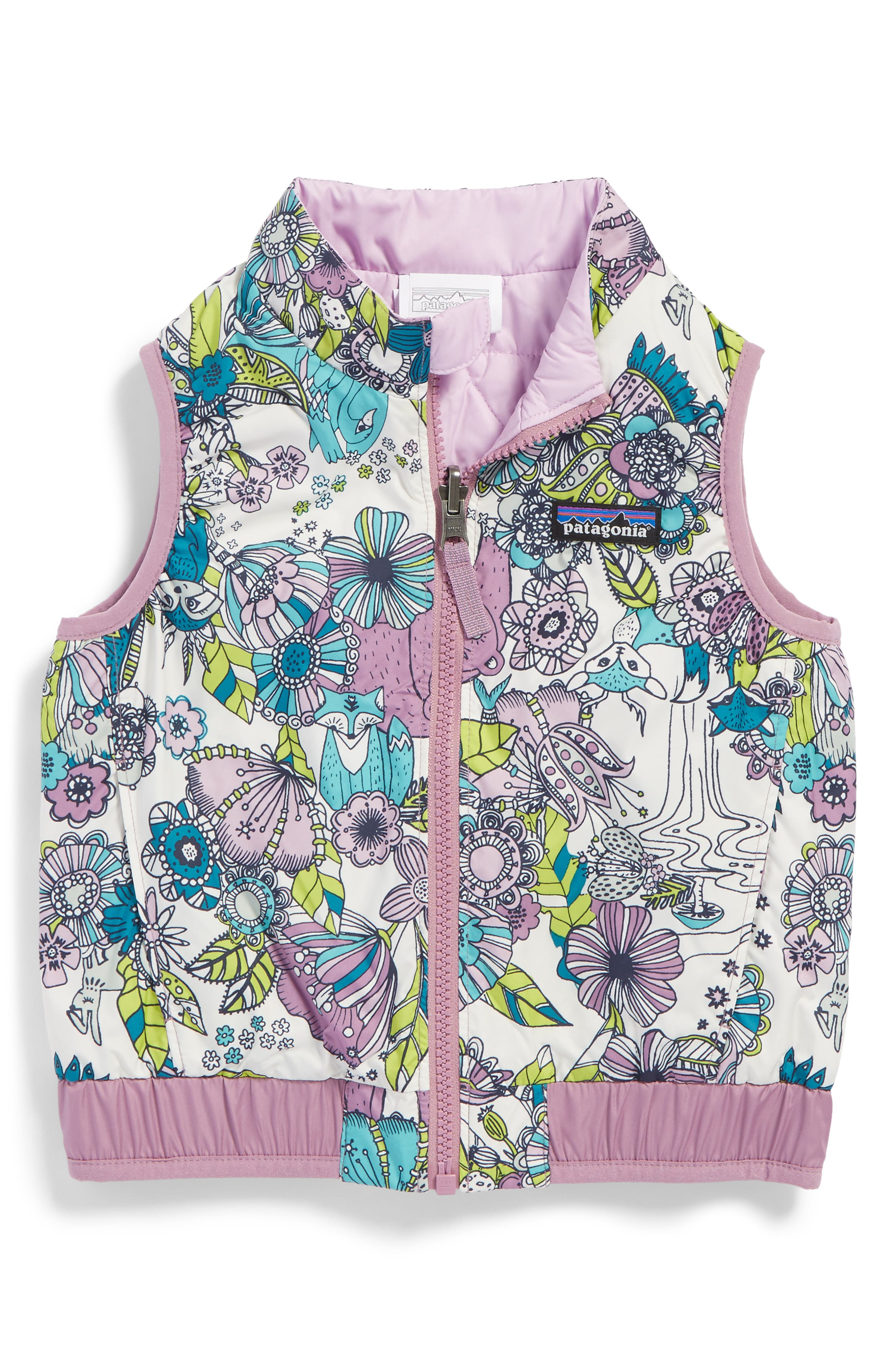 Main Image - Patagonia 'Puff-Ball' Water Resistant Reversible Vest (Toddler Girls)