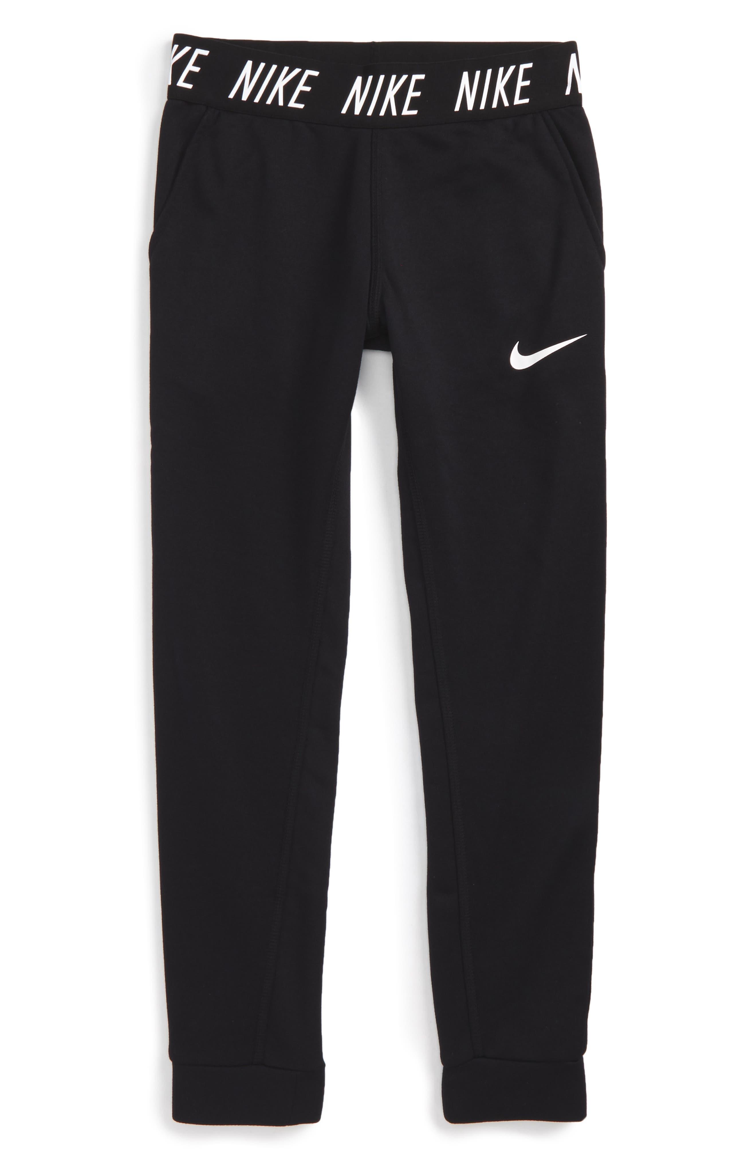 Alternate Image 1 Selected - Nike Dry Core Studio Training Pants (Big Girls)