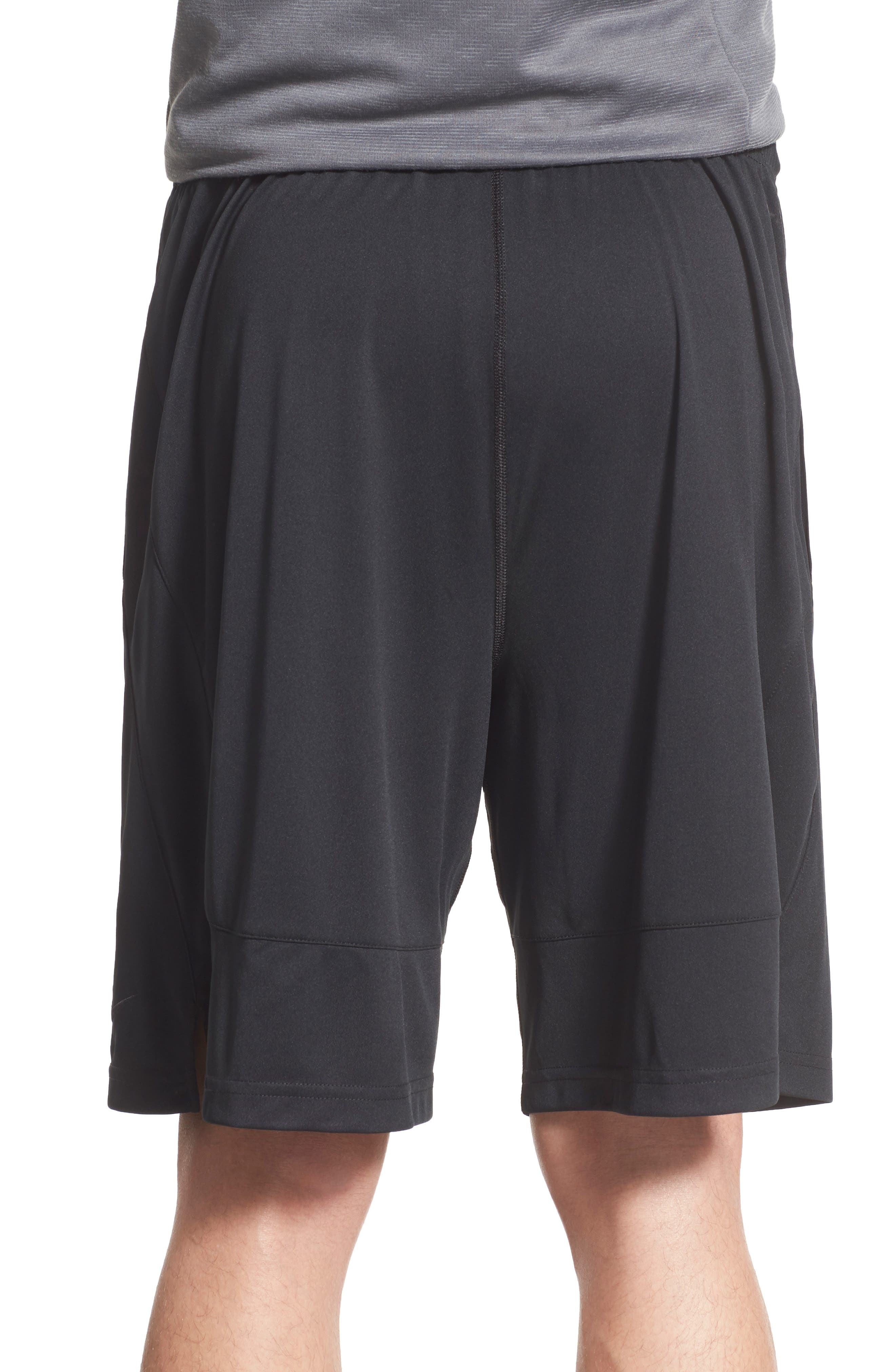 Fly Athletic Shorts,                             Alternate thumbnail 2, color,                             Black/ D Grey
