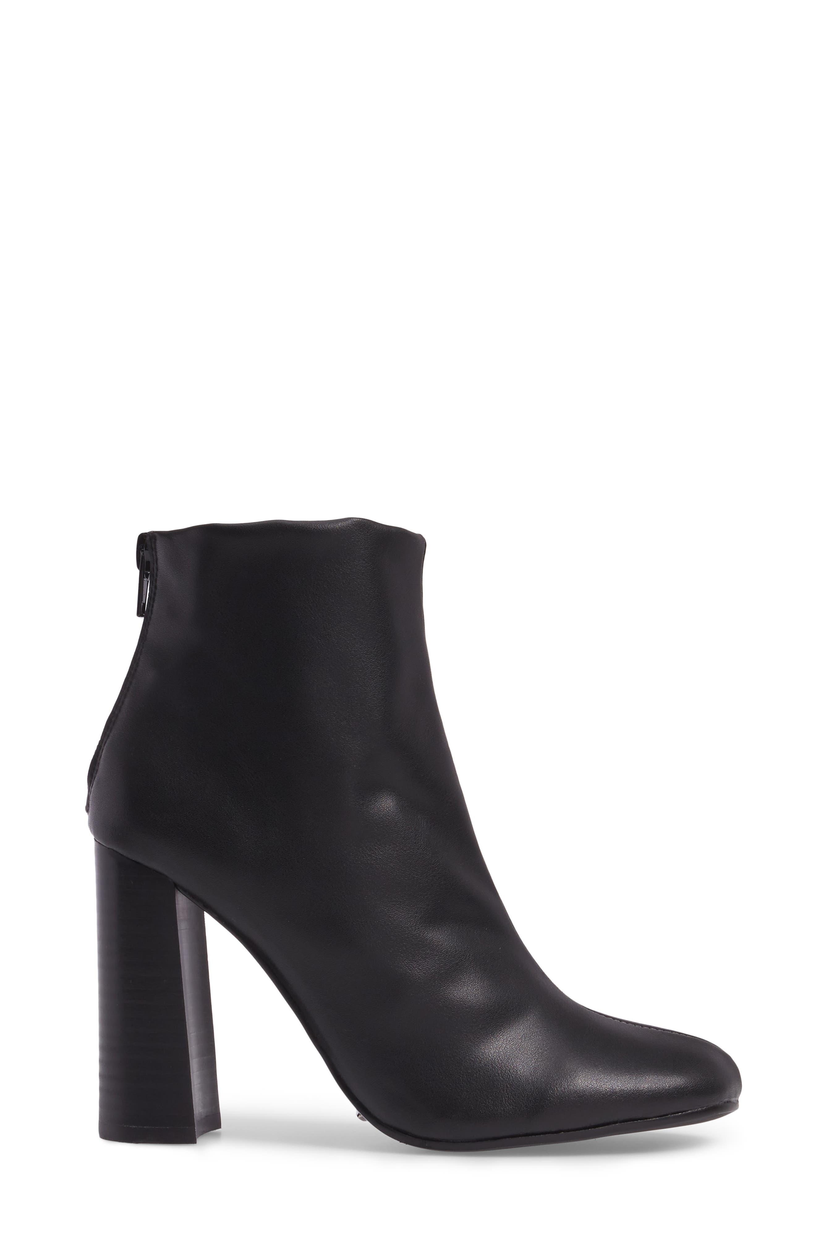 Nyx Stretch Bootie,                             Alternate thumbnail 3, color,                             Black Nappa Leather