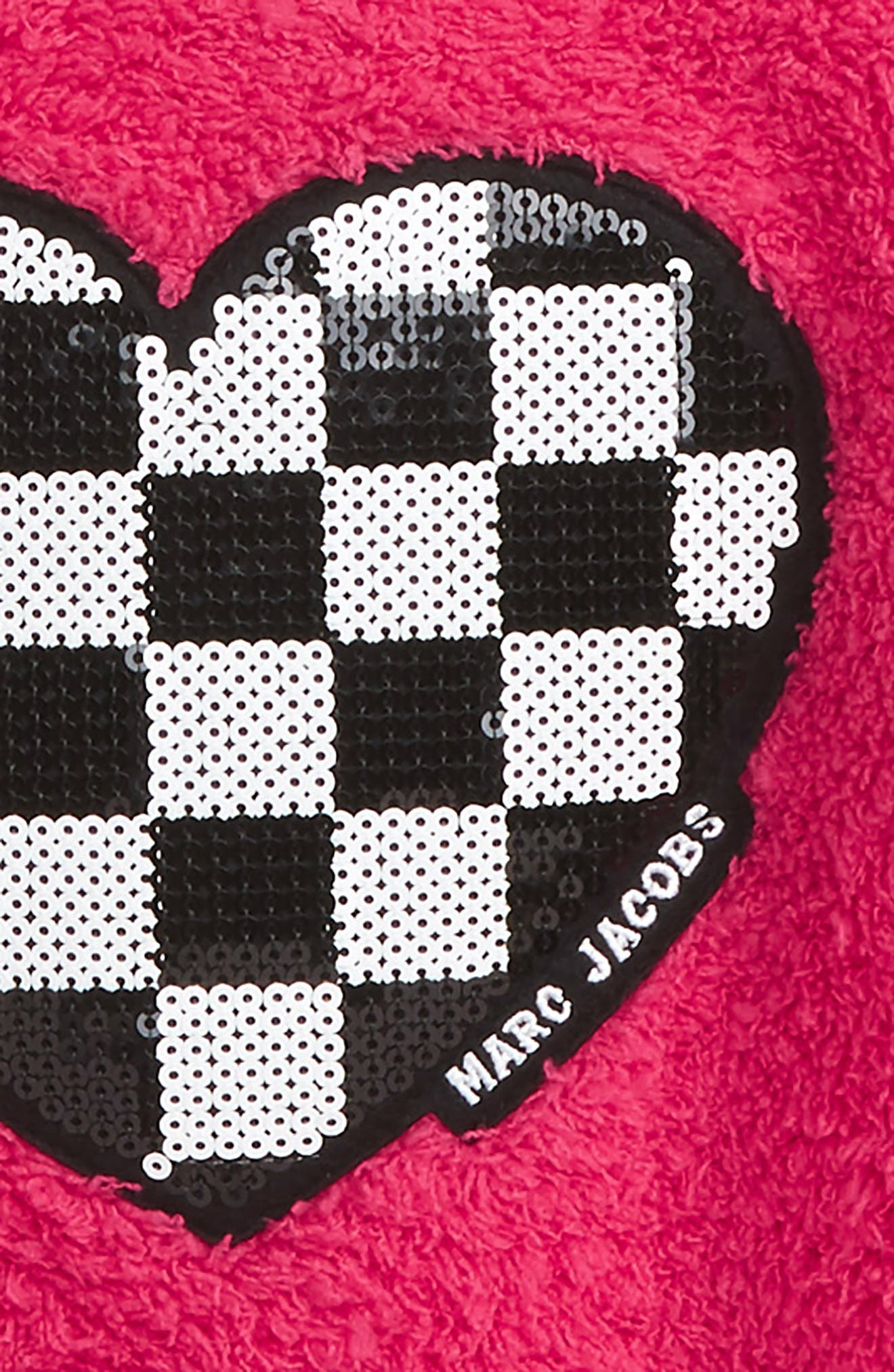 Alternate Image 2  - LITTLE MARC JACOBS Sequin Heart Fuzzy Sweatshirt (Toddler Girls, Little Girls & Big Girls)