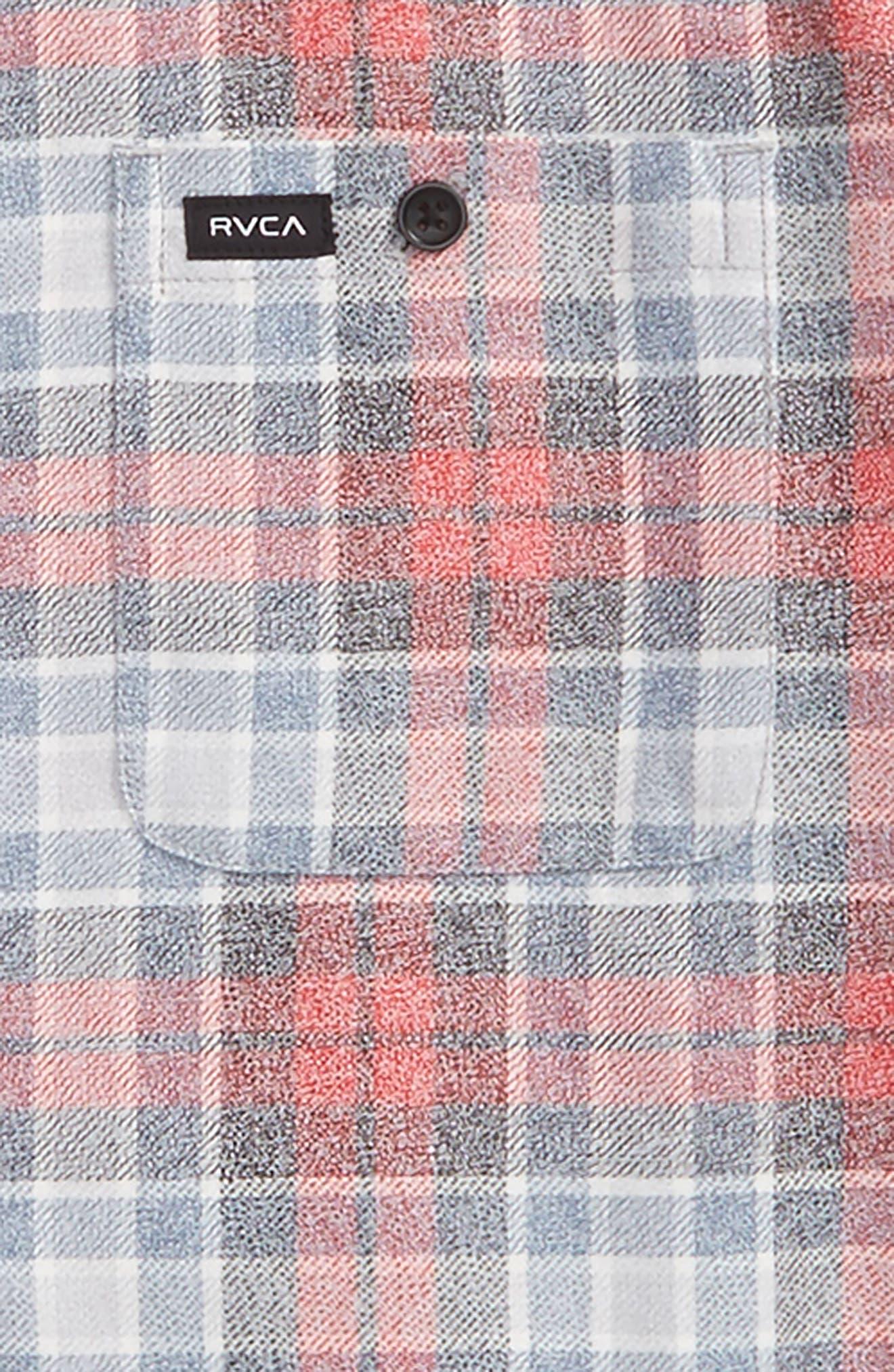 Diffusion Plaid Shirt,                             Alternate thumbnail 2, color,                             Pirate Black