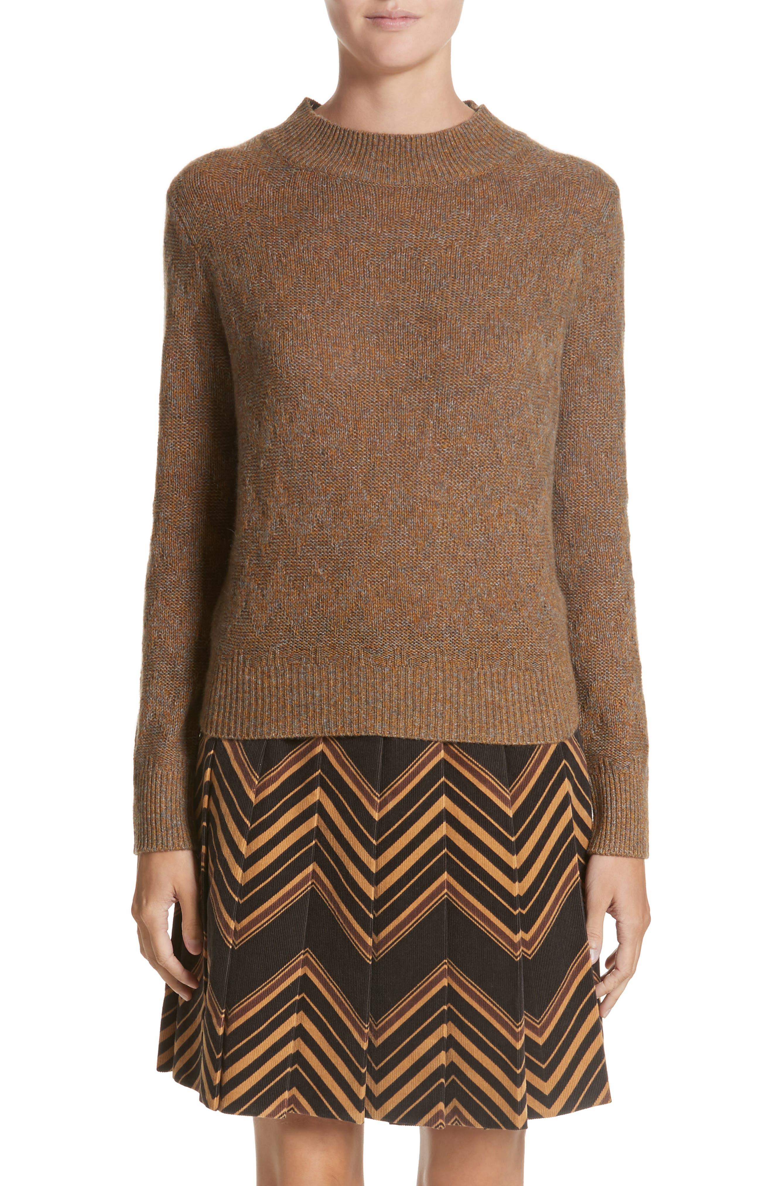 Main Image - MARC JACOBS Chevron Knit Cashmere Sweater