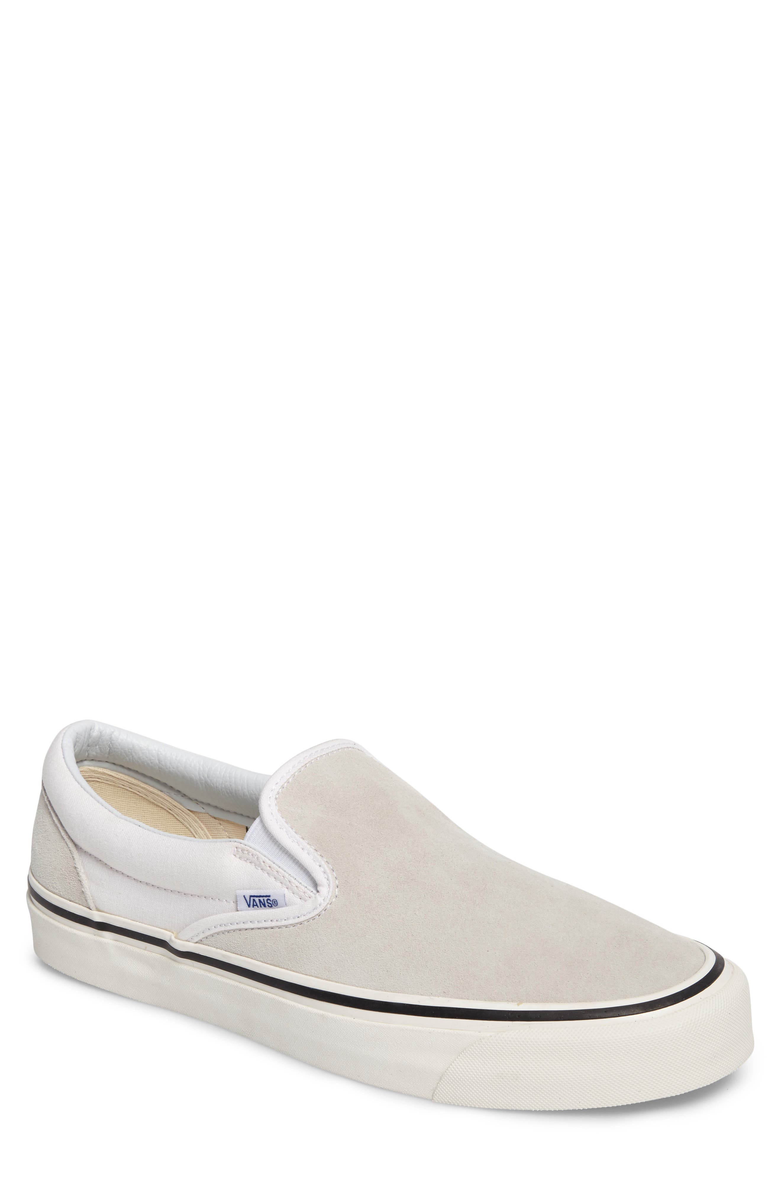Classic Slip-On,                         Main,                         color, Og White Suede