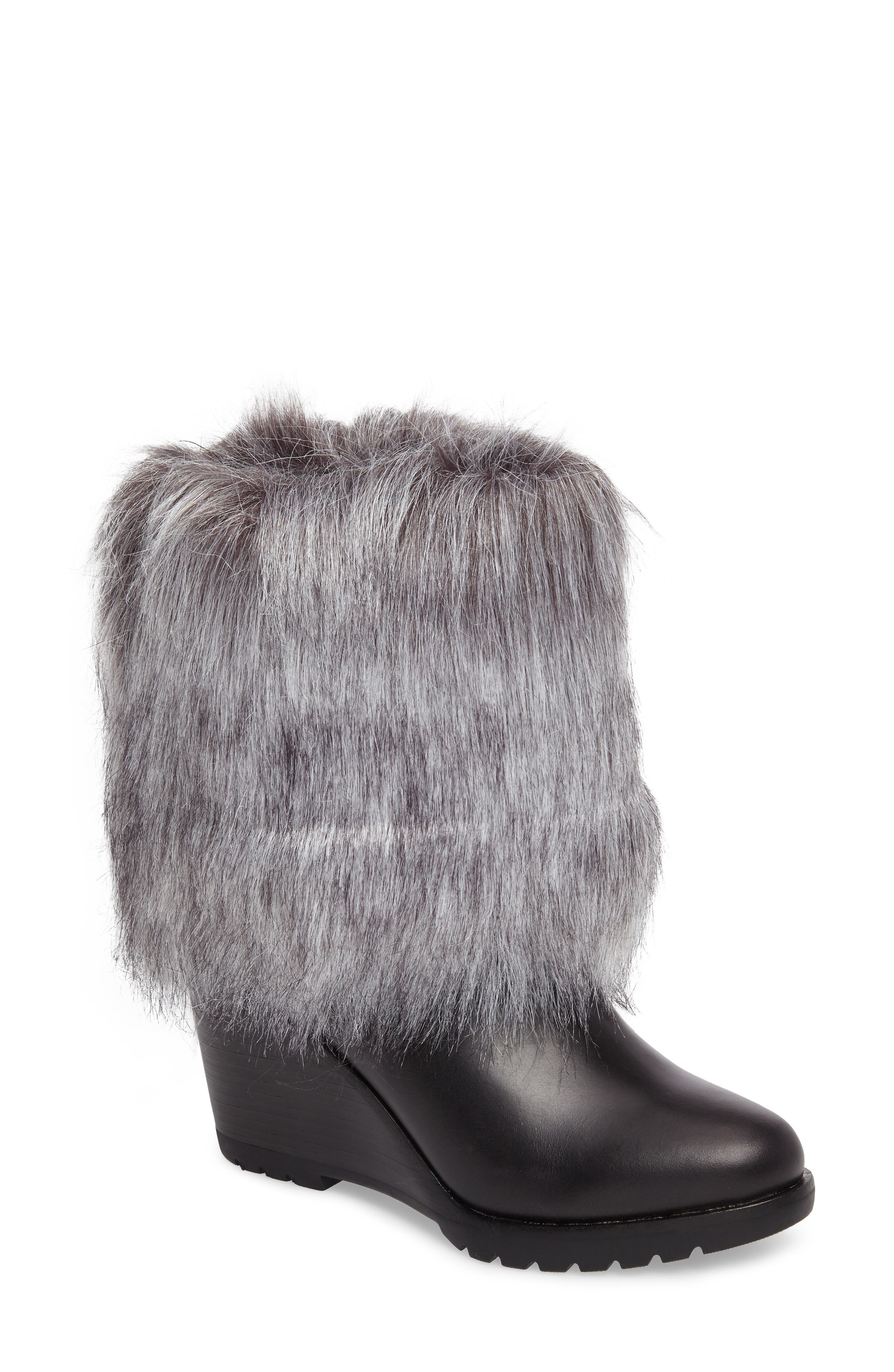 SOREL Park City Faux Fur Wedge Bootie (Women)