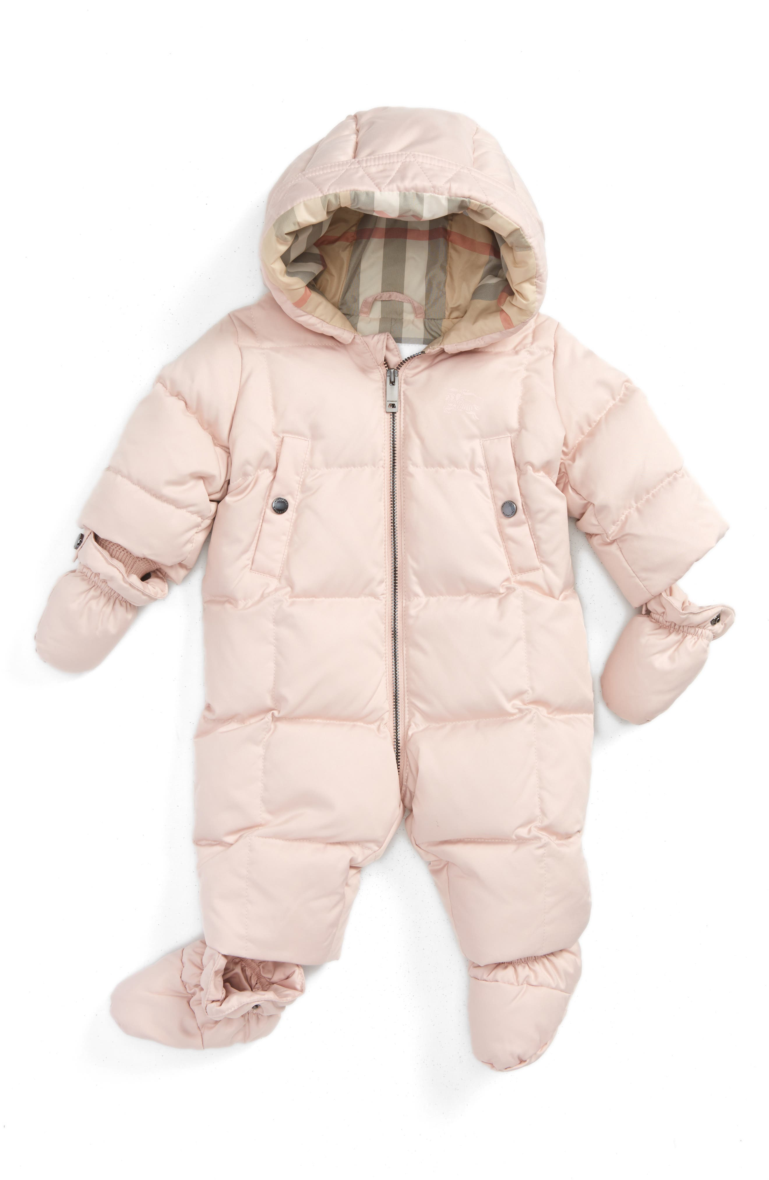 Burberry Skylar Quilted Down Snowsuit (Baby Girls)