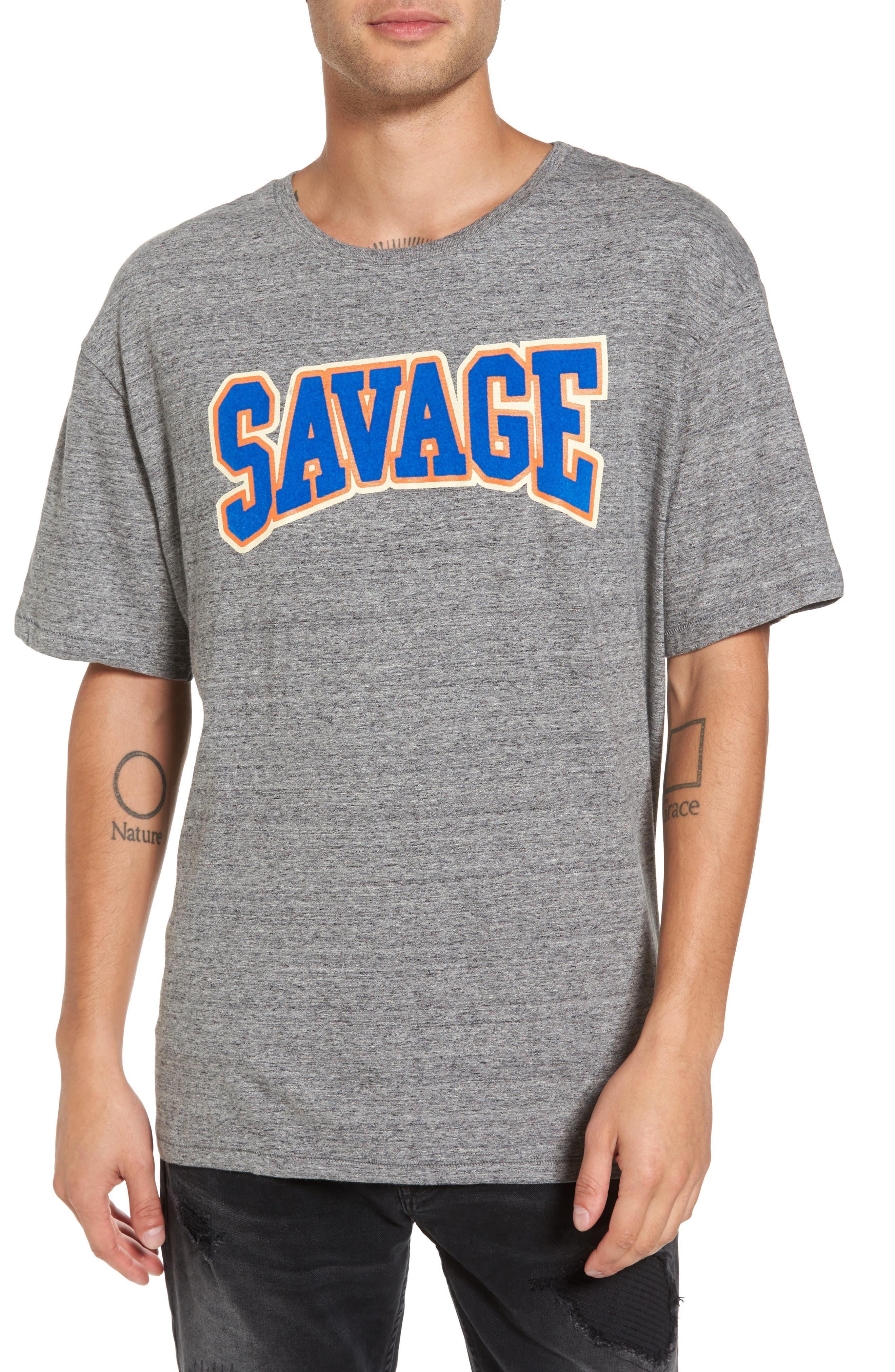Savage T-Shirt,                             Main thumbnail 1, color,                             Grunder Grey