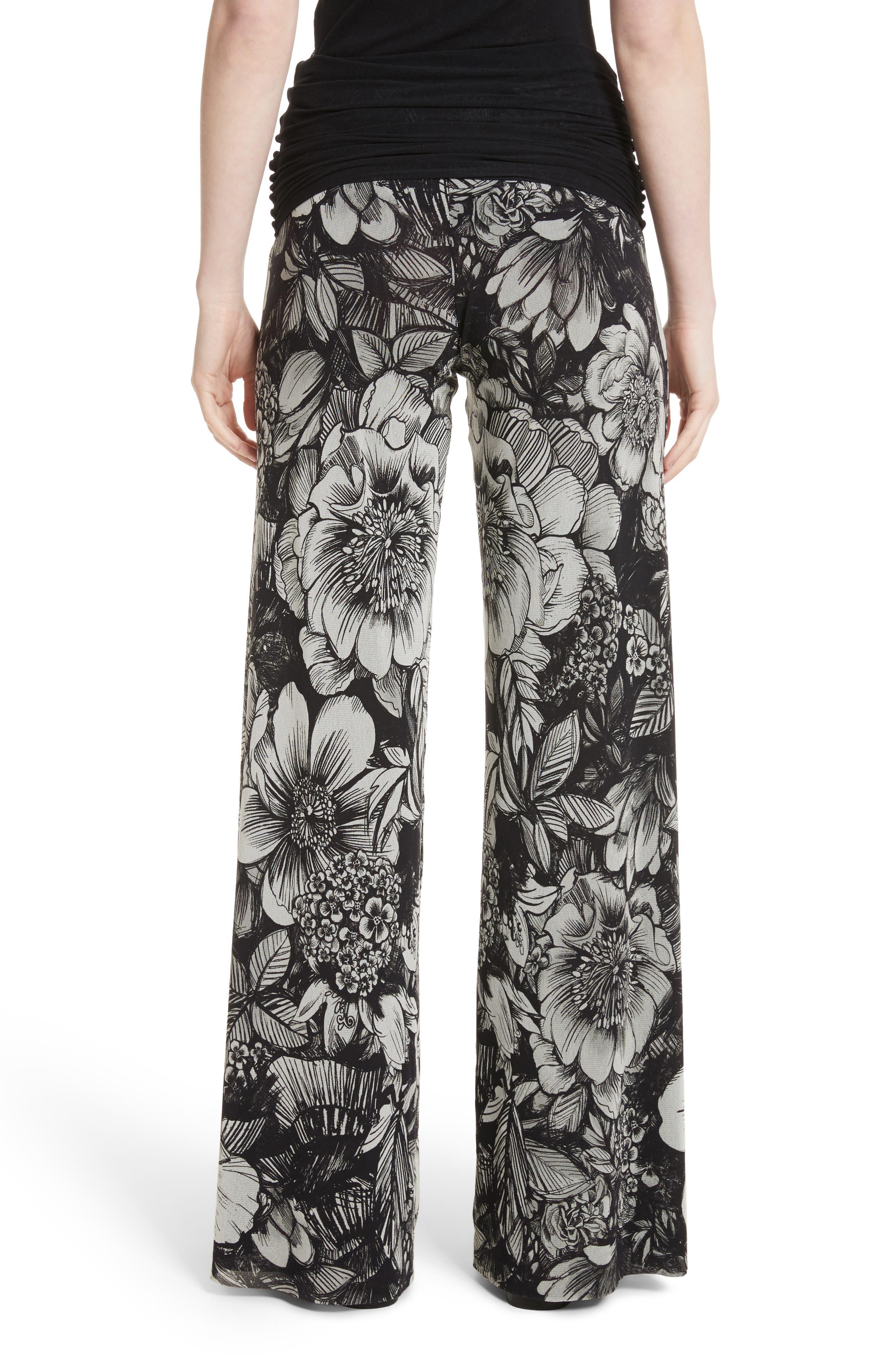 Alternate Image 2  - Fuzzi Print Tulle Wide Leg Pants