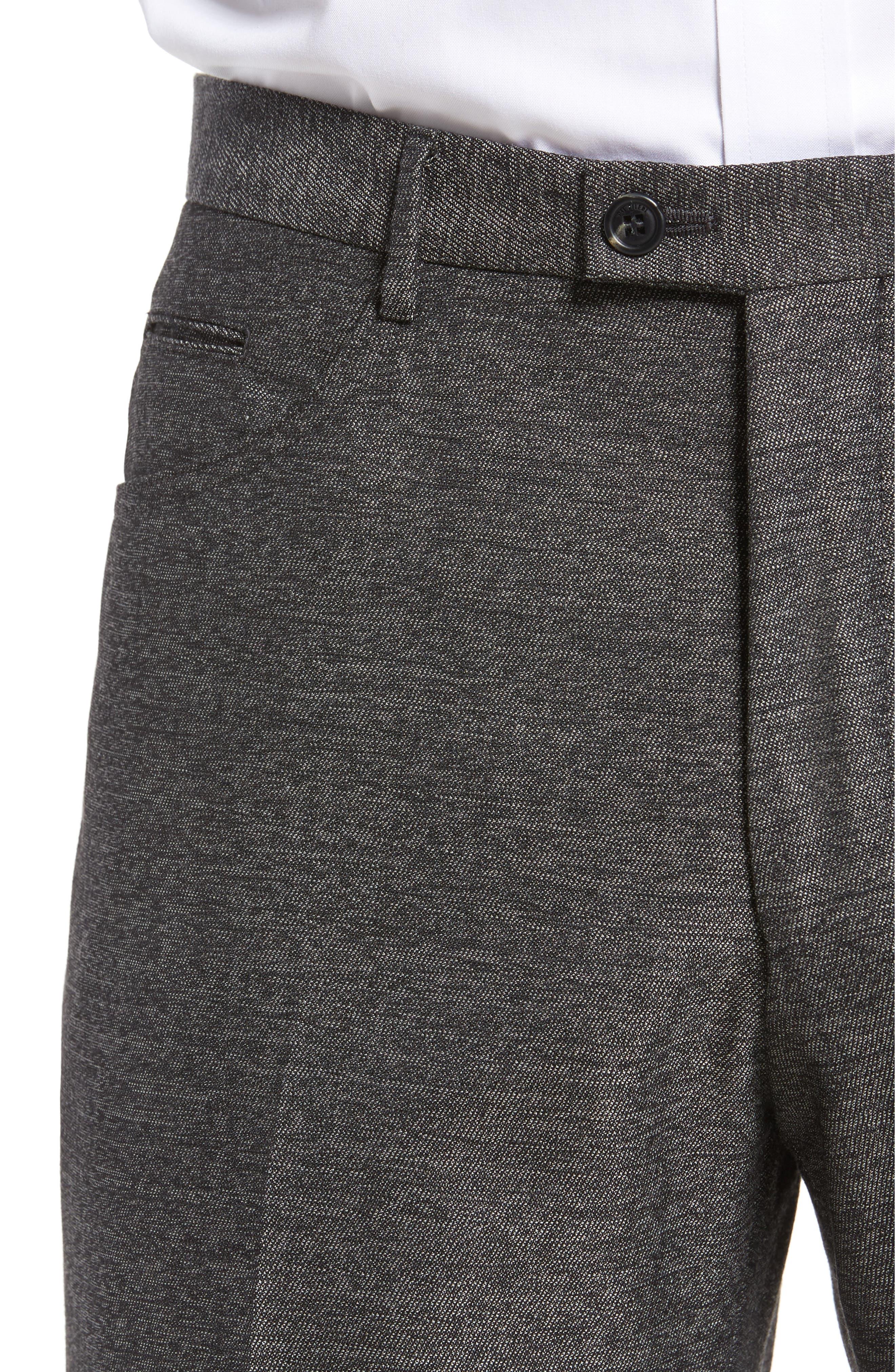 Sartorial Wool Five-Pocket Pants,                             Alternate thumbnail 4, color,                             Grey
