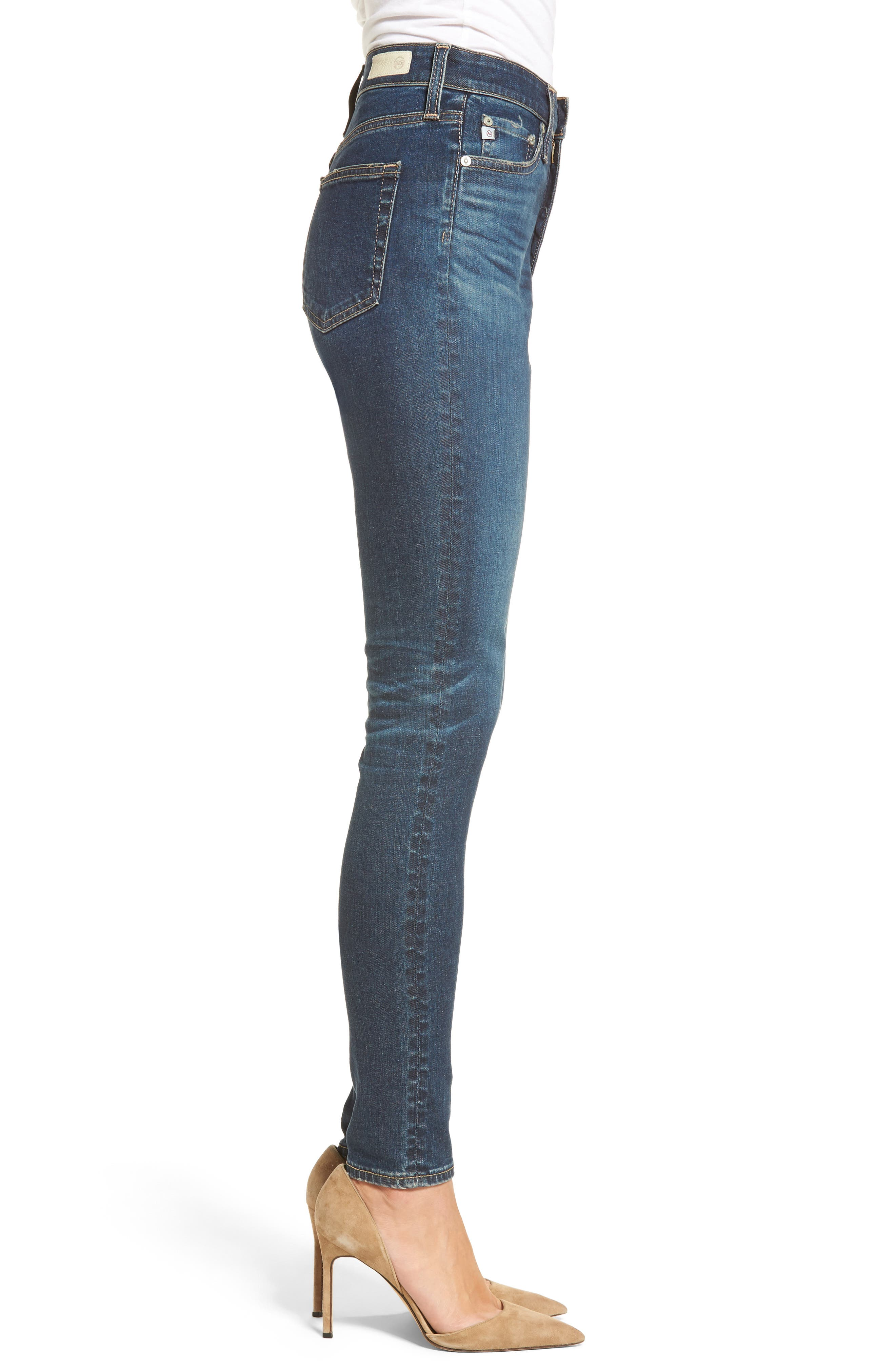 Alternate Image 3  - AG Mila High Rise Skinny Jeans (06 Years Songbird)