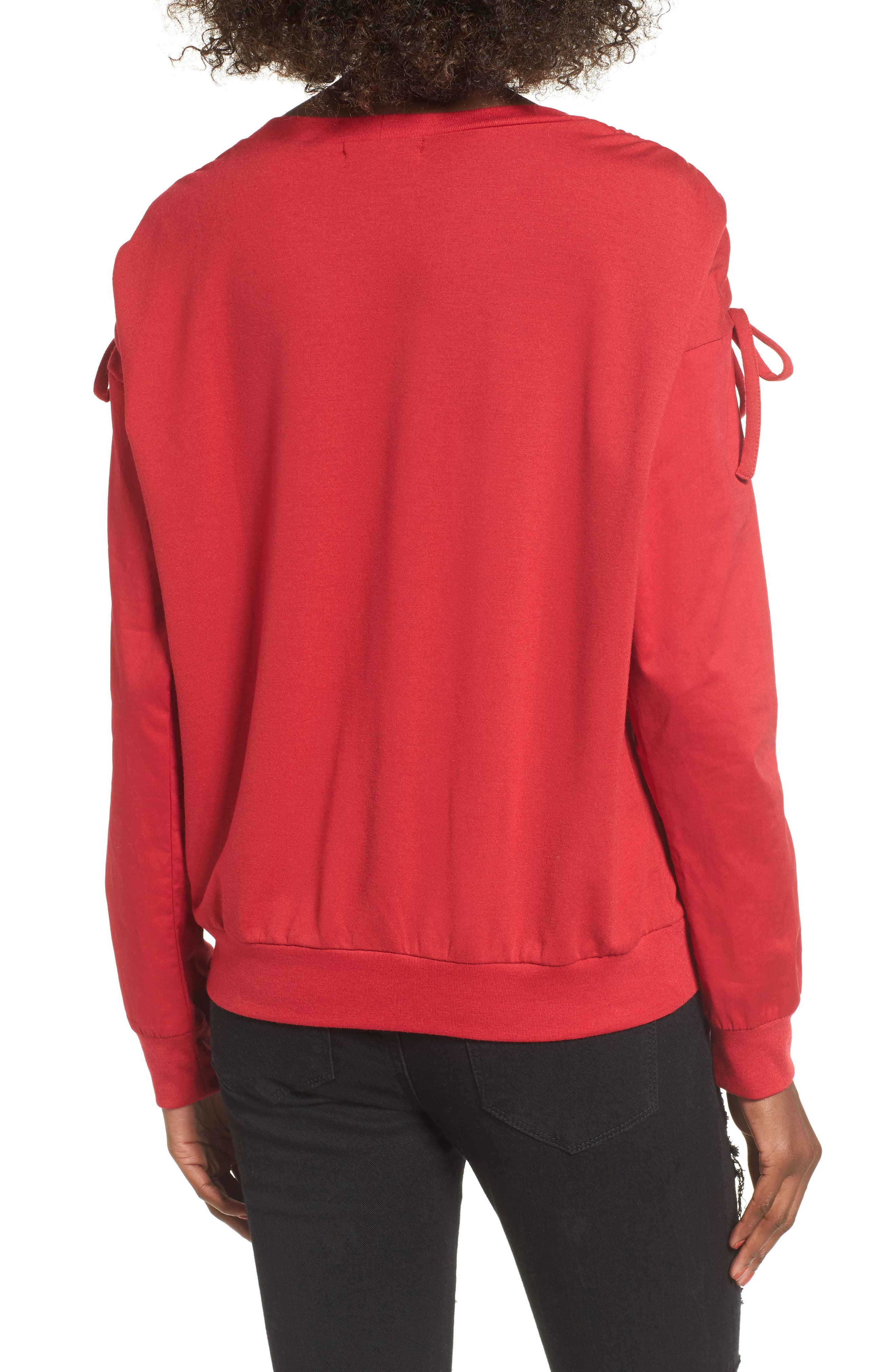 Alternate Image 2  - Socialite Cinch Sleeve Sweatshirt