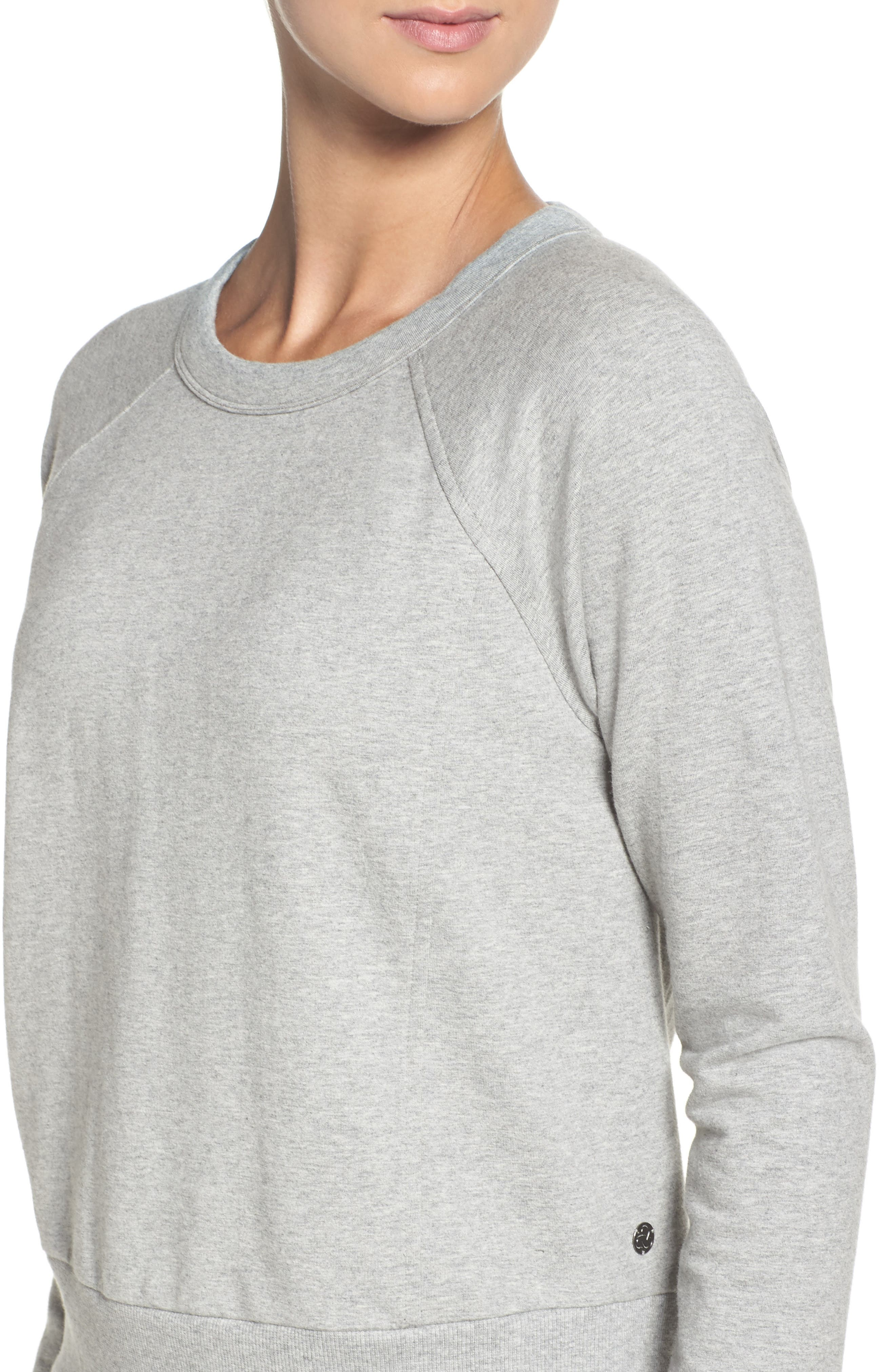 Alternate Image 4  - Zella Covet Crisscross Sweatshirt