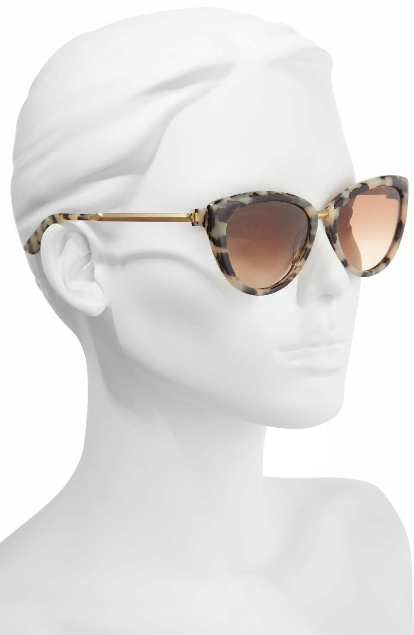 Alternate Image 2  - CALVIN KLEIN 56mm Cat Eye Sunglasses
