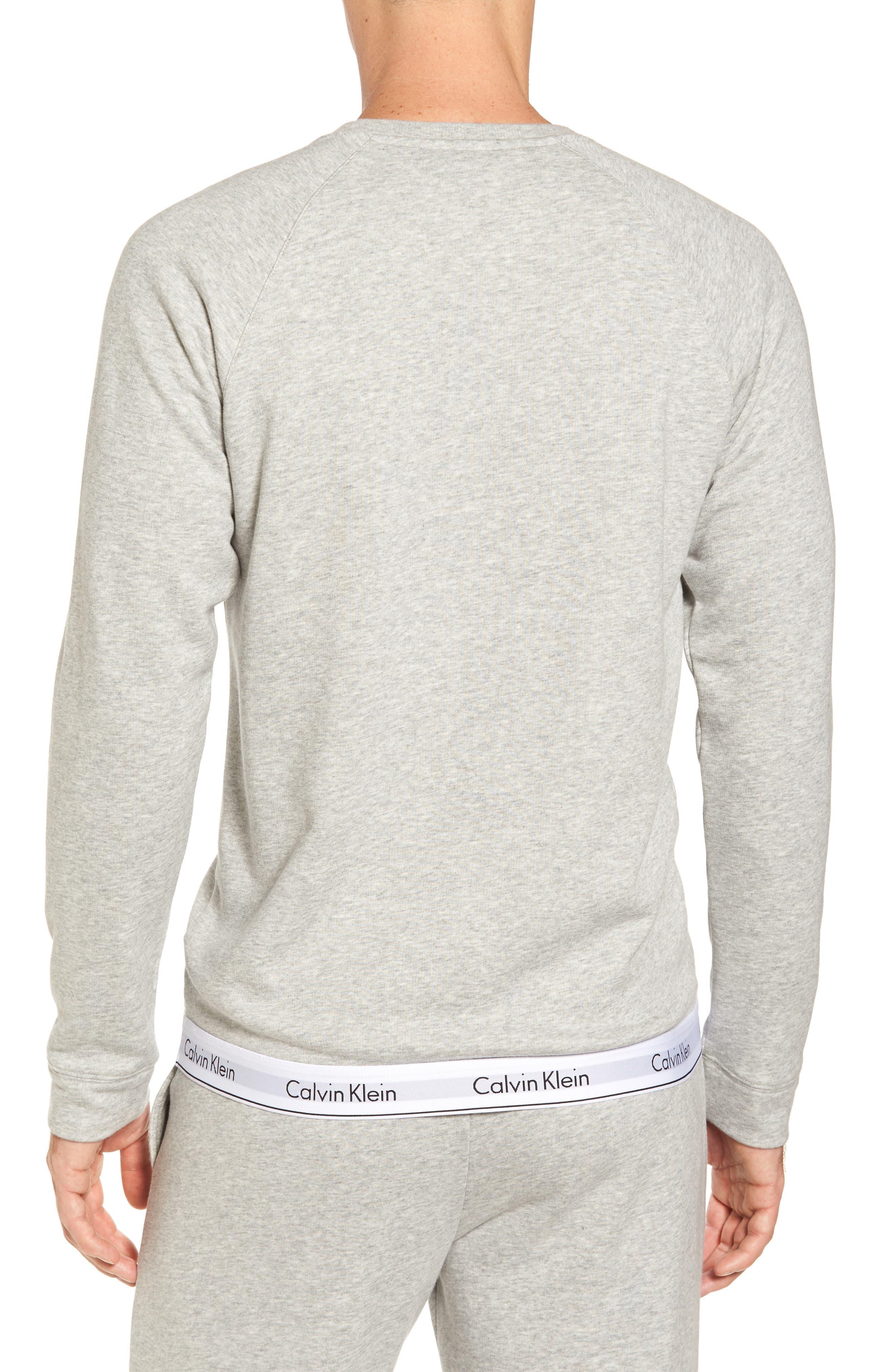Lounge Crewneck Sweatshirt,                             Alternate thumbnail 2, color,                             Grey Heather