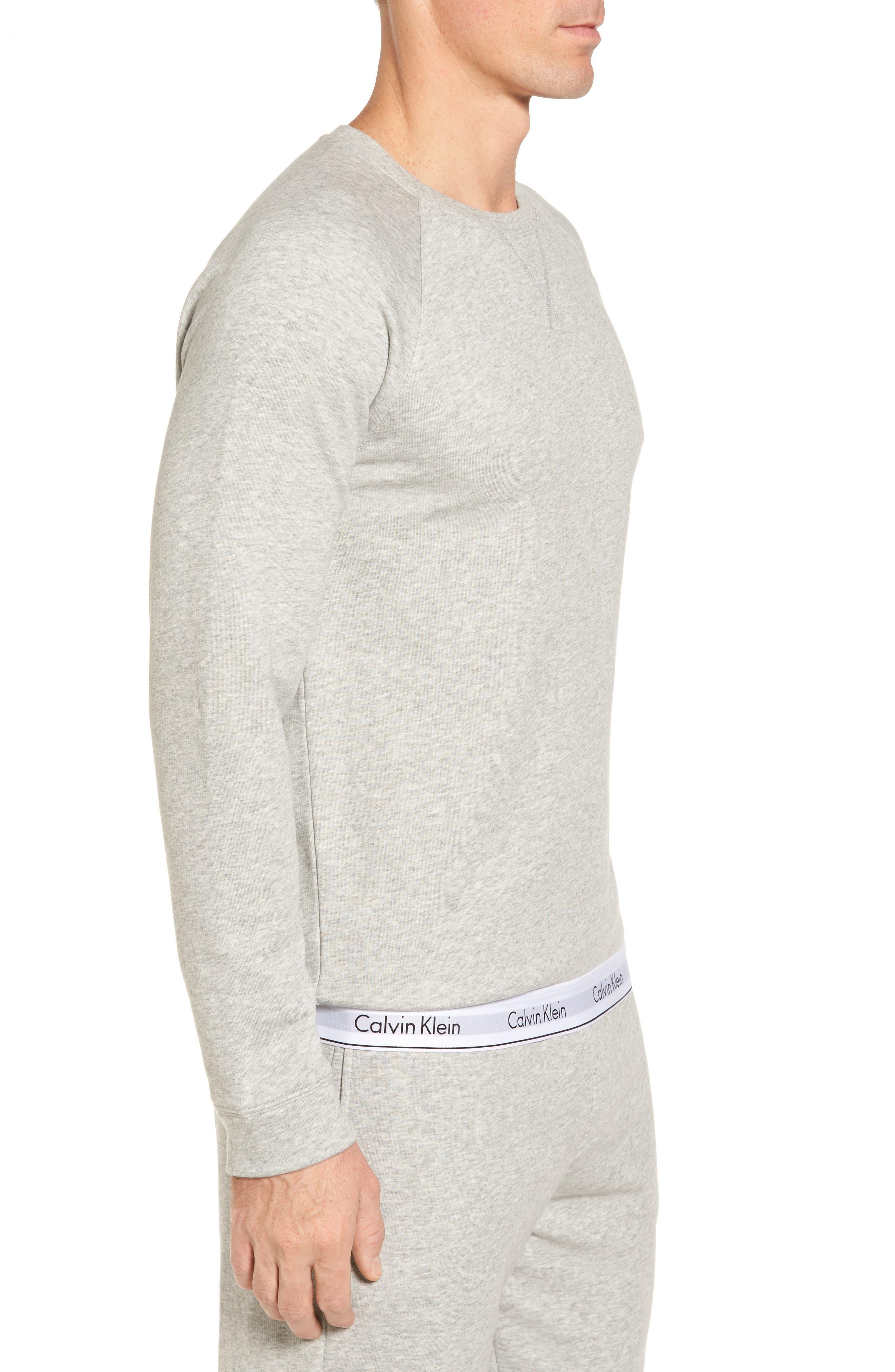 Lounge Crewneck Sweatshirt,                             Alternate thumbnail 3, color,                             Grey Heather