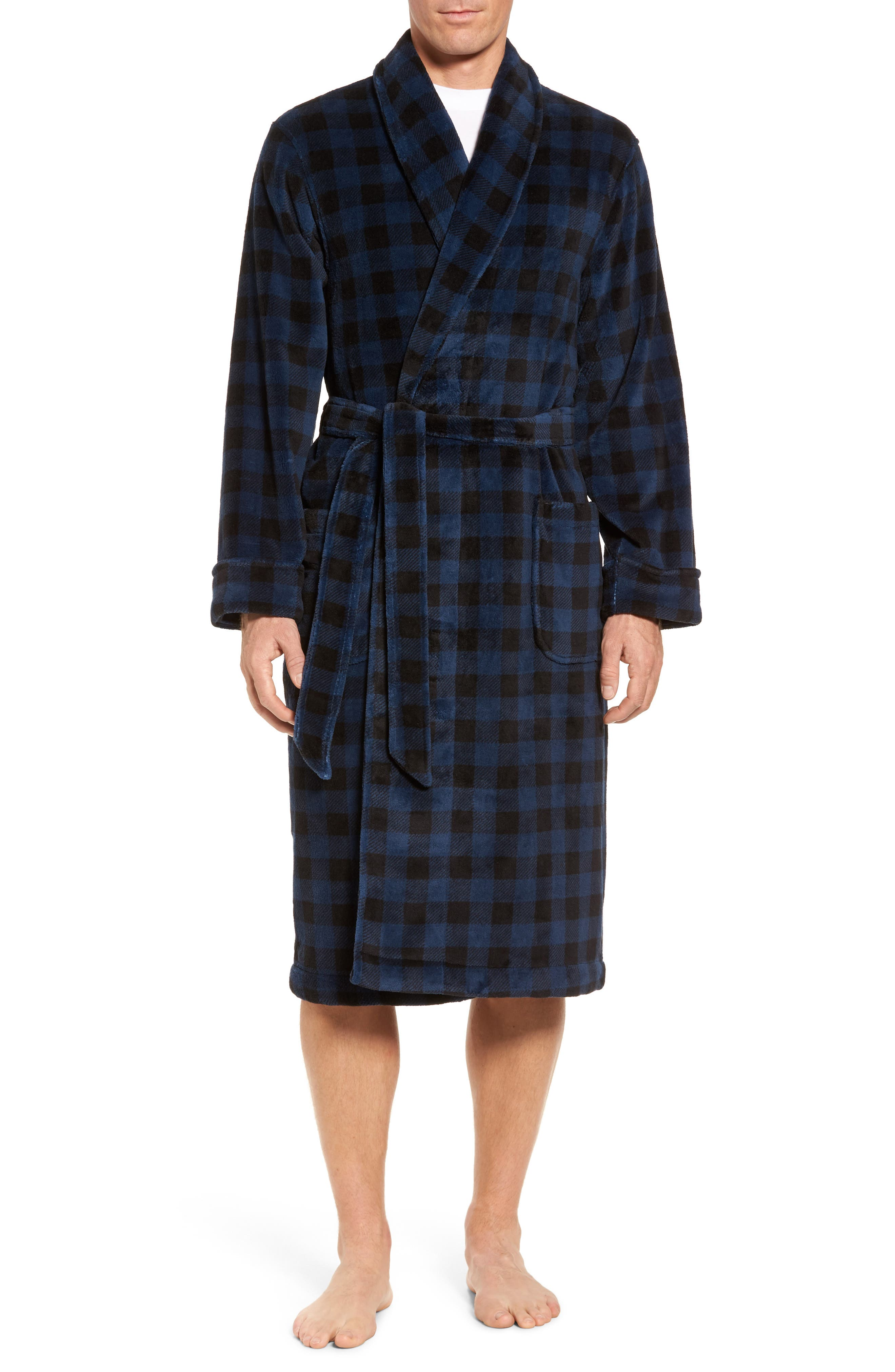 Nordstrom Men's Shop Buffalo Check Fleece Robe