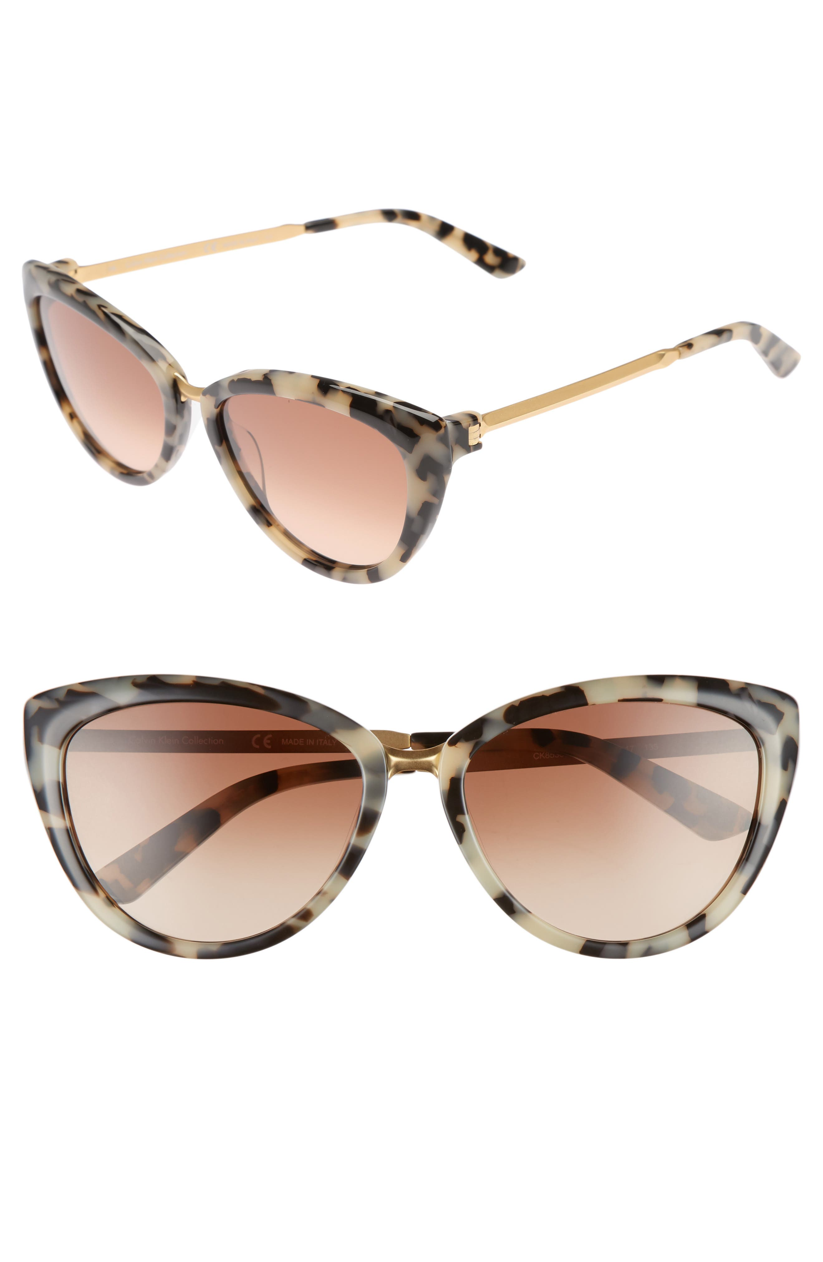 Alternate Image 1 Selected - CALVIN KLEIN 56mm Cat Eye Sunglasses