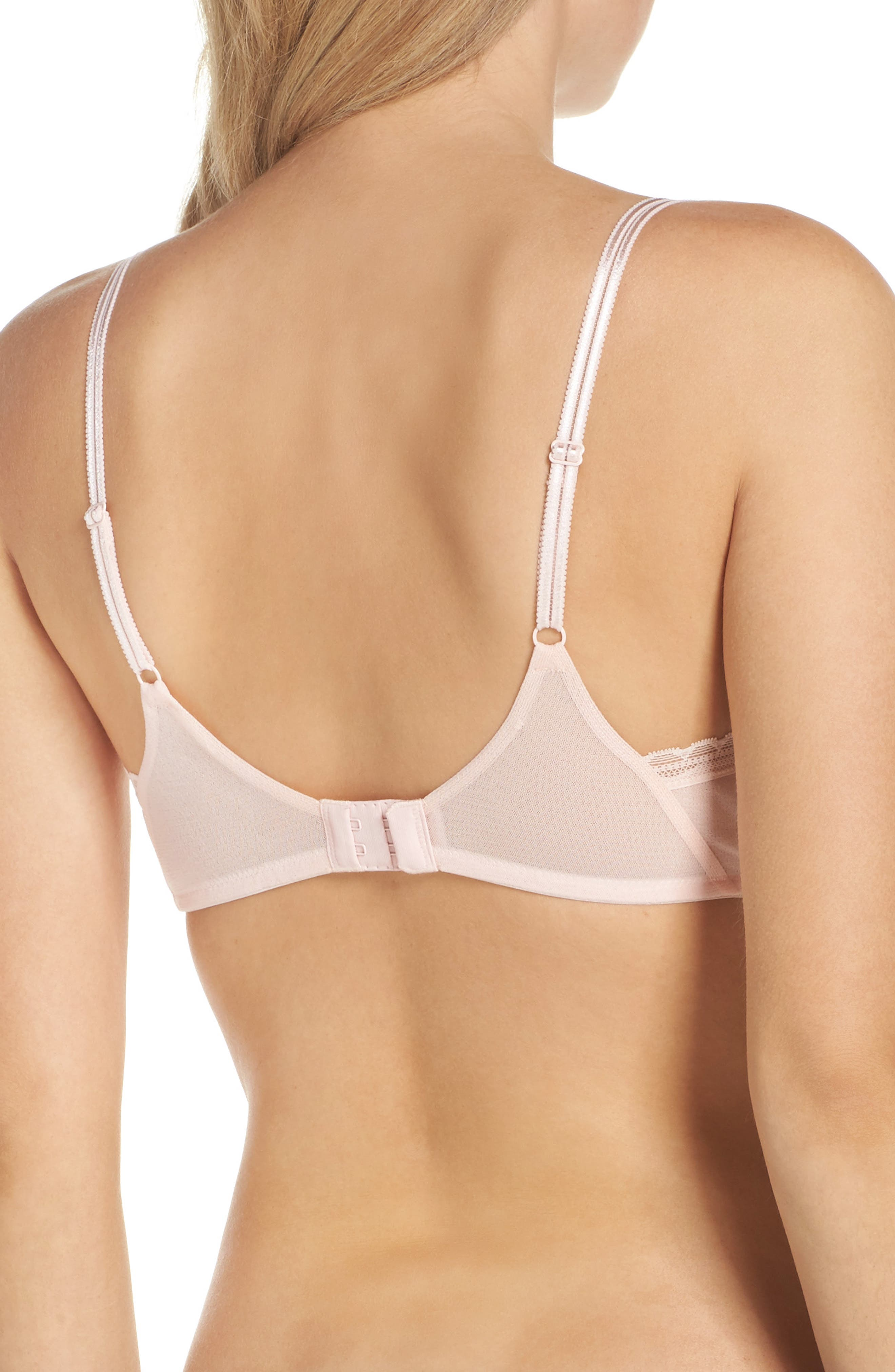 Next to Nothing Underwire Demi Plunge Bra,                             Alternate thumbnail 2, color,                             Blush