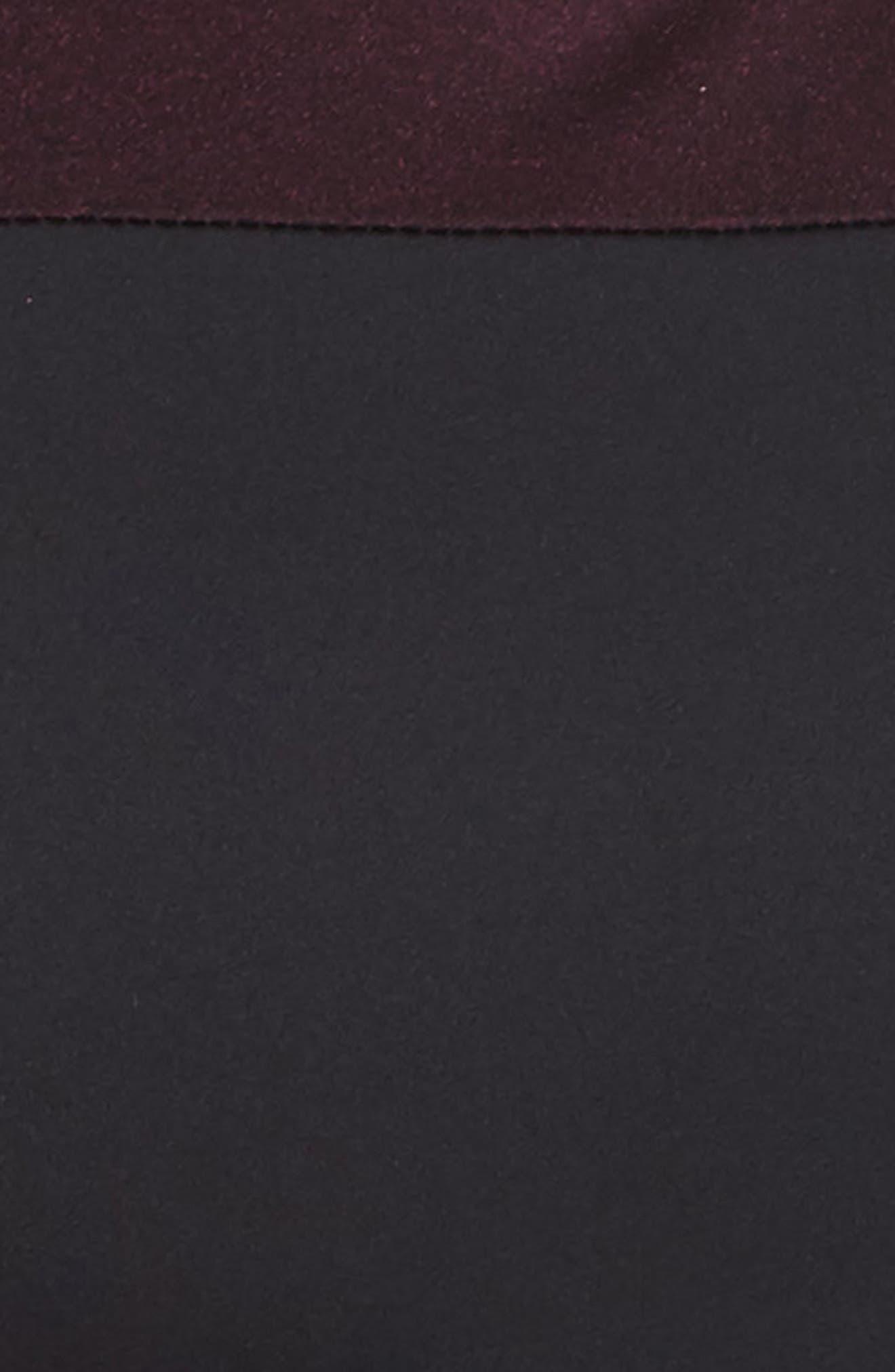 Slash Bra,                             Alternate thumbnail 5, color,                             Black/ Garnet