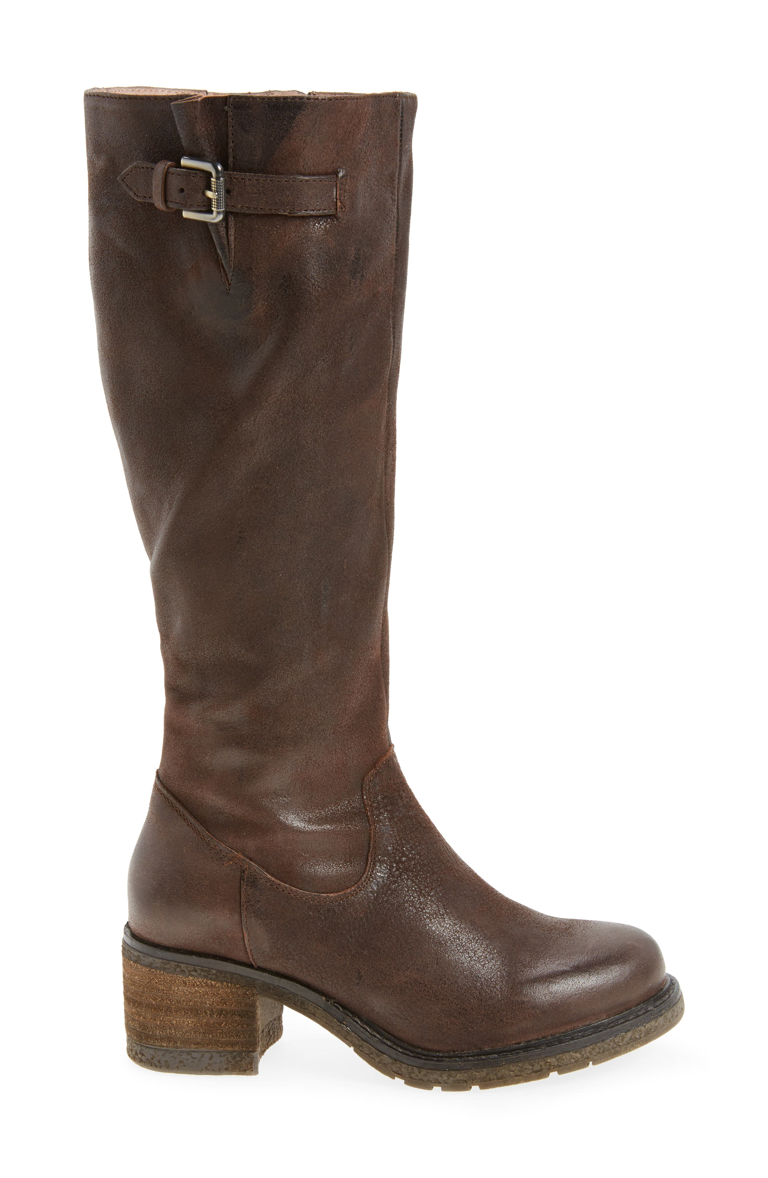 Exit Tall Boot,                             Alternate thumbnail 3, color,                             Brown Leather