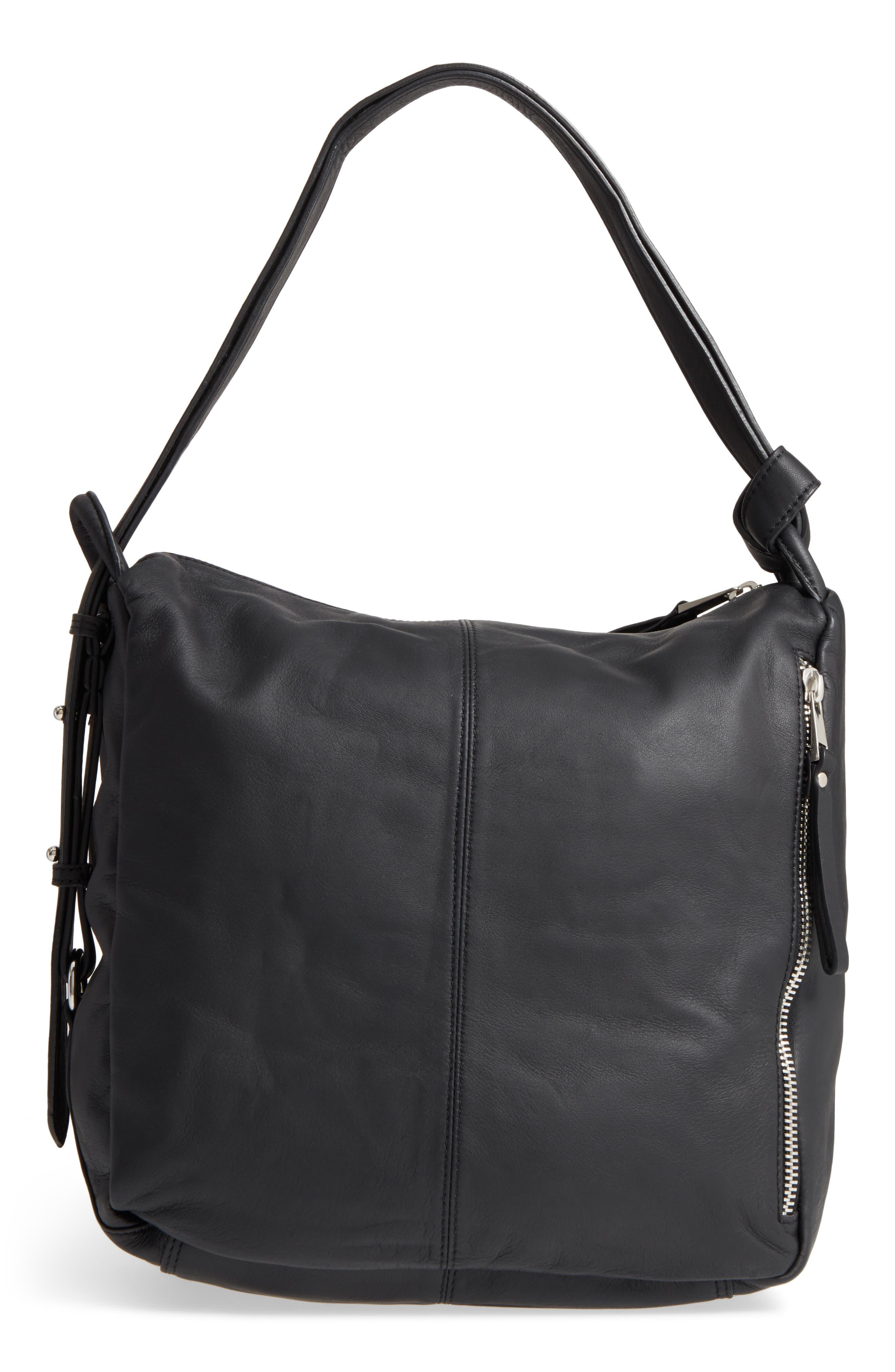 Alternate Image 3  - Topshop Premium Leather Sling Shoulder Bag