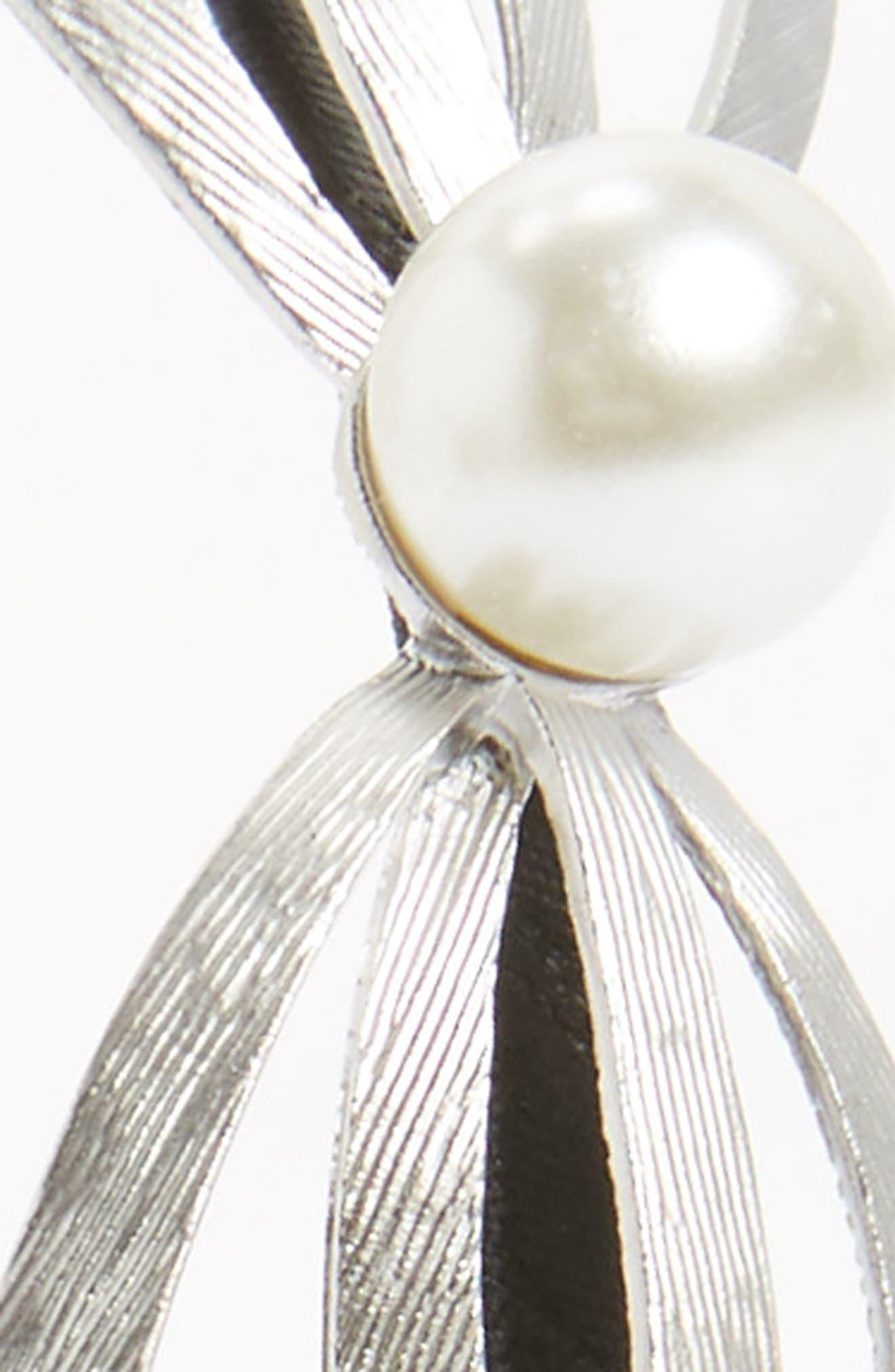 Sweet Bow Headband,                             Alternate thumbnail 2, color,                             Silver/Black