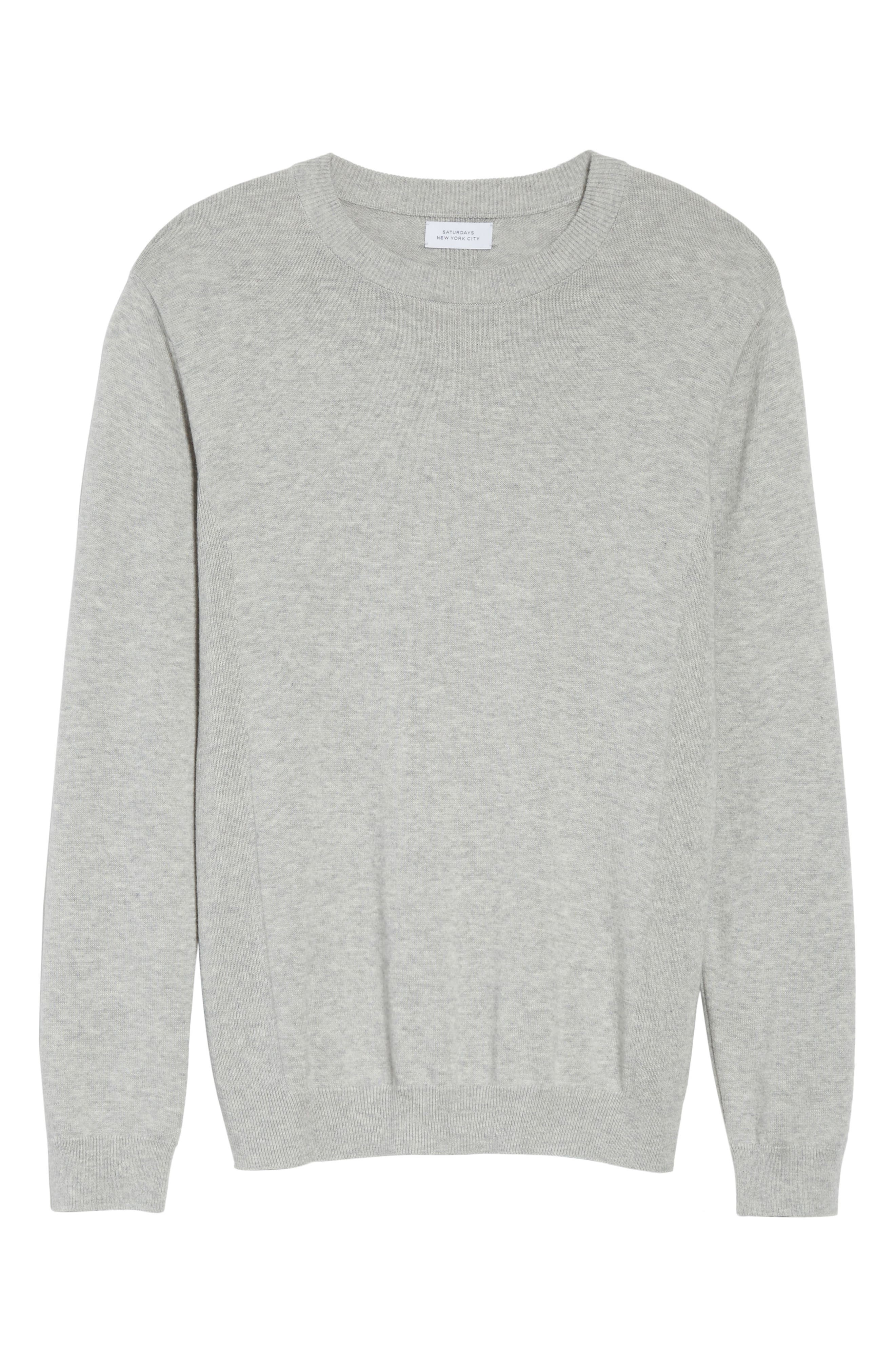 Merino Wool & Cashmere Pullover,                             Alternate thumbnail 6, color,                             Ash Heather