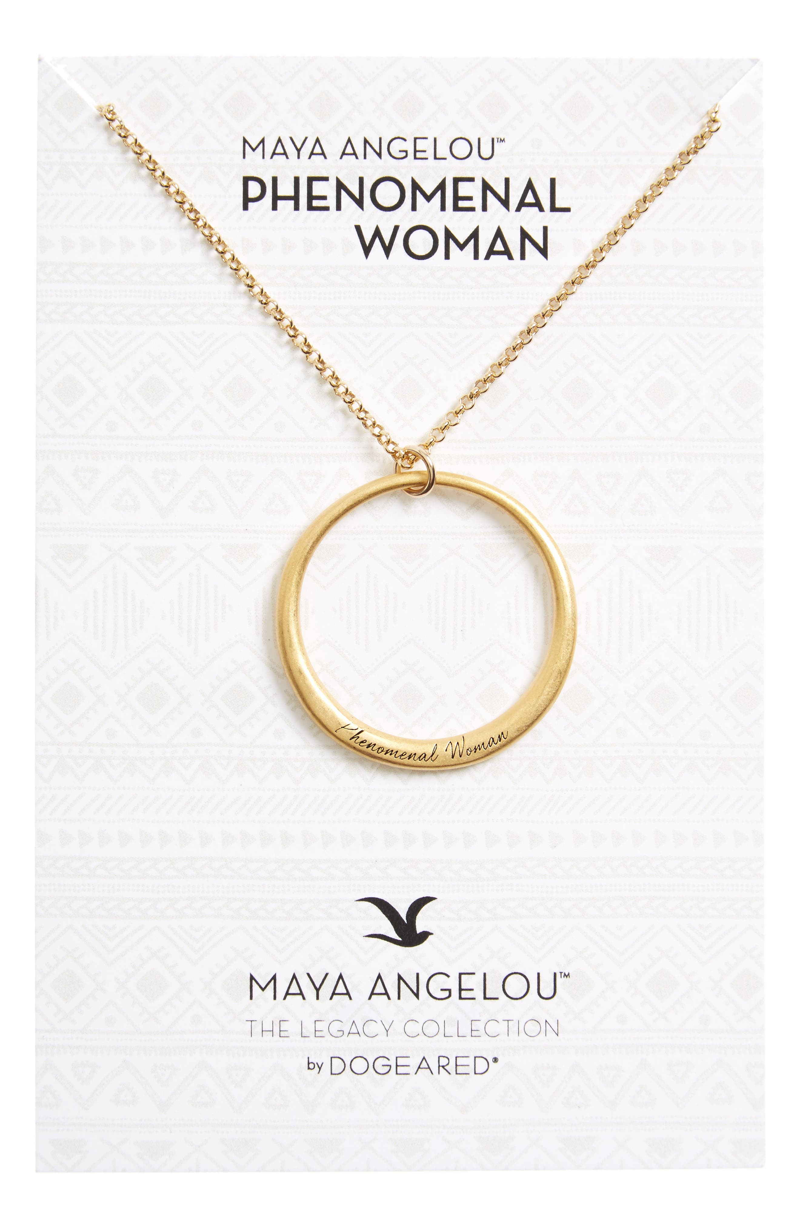 Main Image - Dogeared Legacy Collection - Phenomenal Women Open Circle Pendant Necklace
